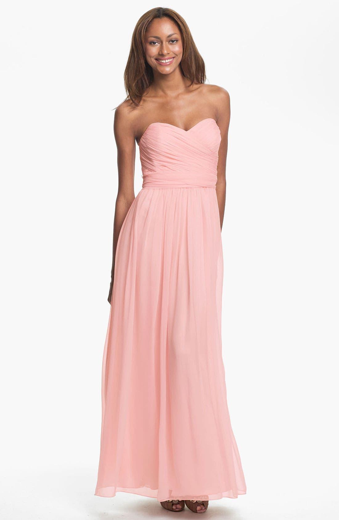 Alternate Image 1 Selected - Jill Jill Stuart Strapless Silk Chiffon Sweetheart Gown