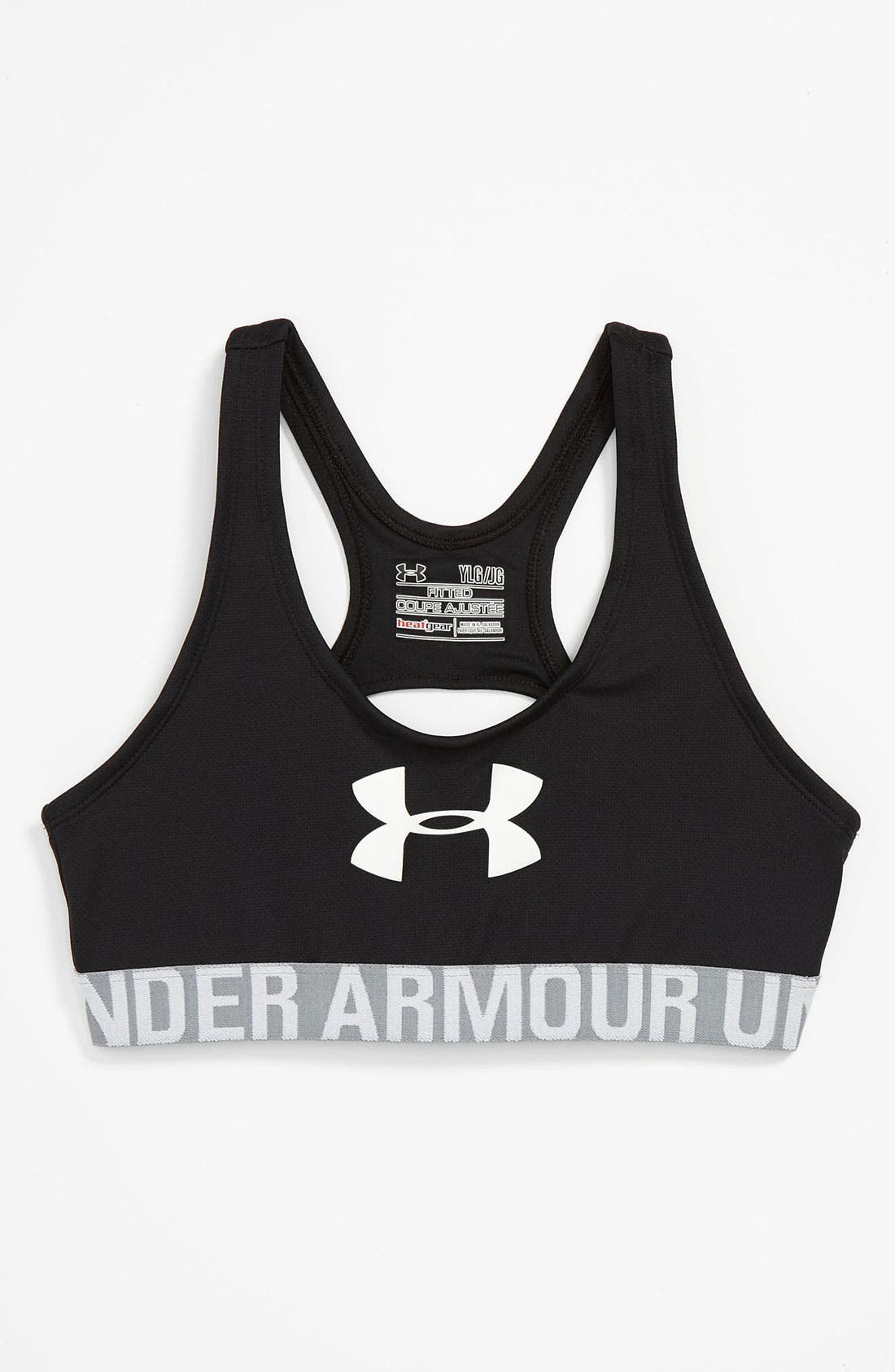 Alternate Image 1 Selected - Under Armour Mesh Sport Bra (Big Girls)