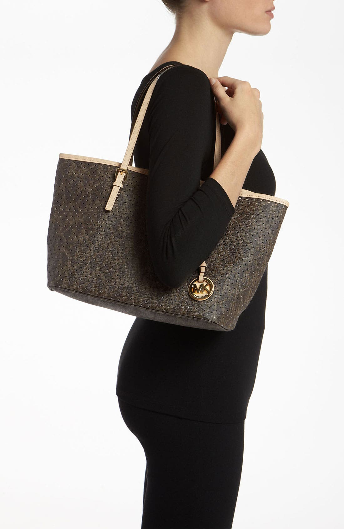 Alternate Image 2  - MICHAEL Michael Kors 'Signature - Small' Perforated Tote