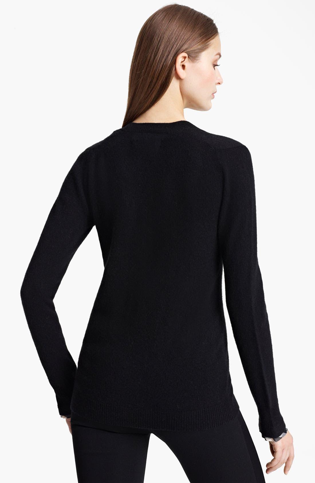Alternate Image 2  - Burberry London V-Neck Cashmere Sweater