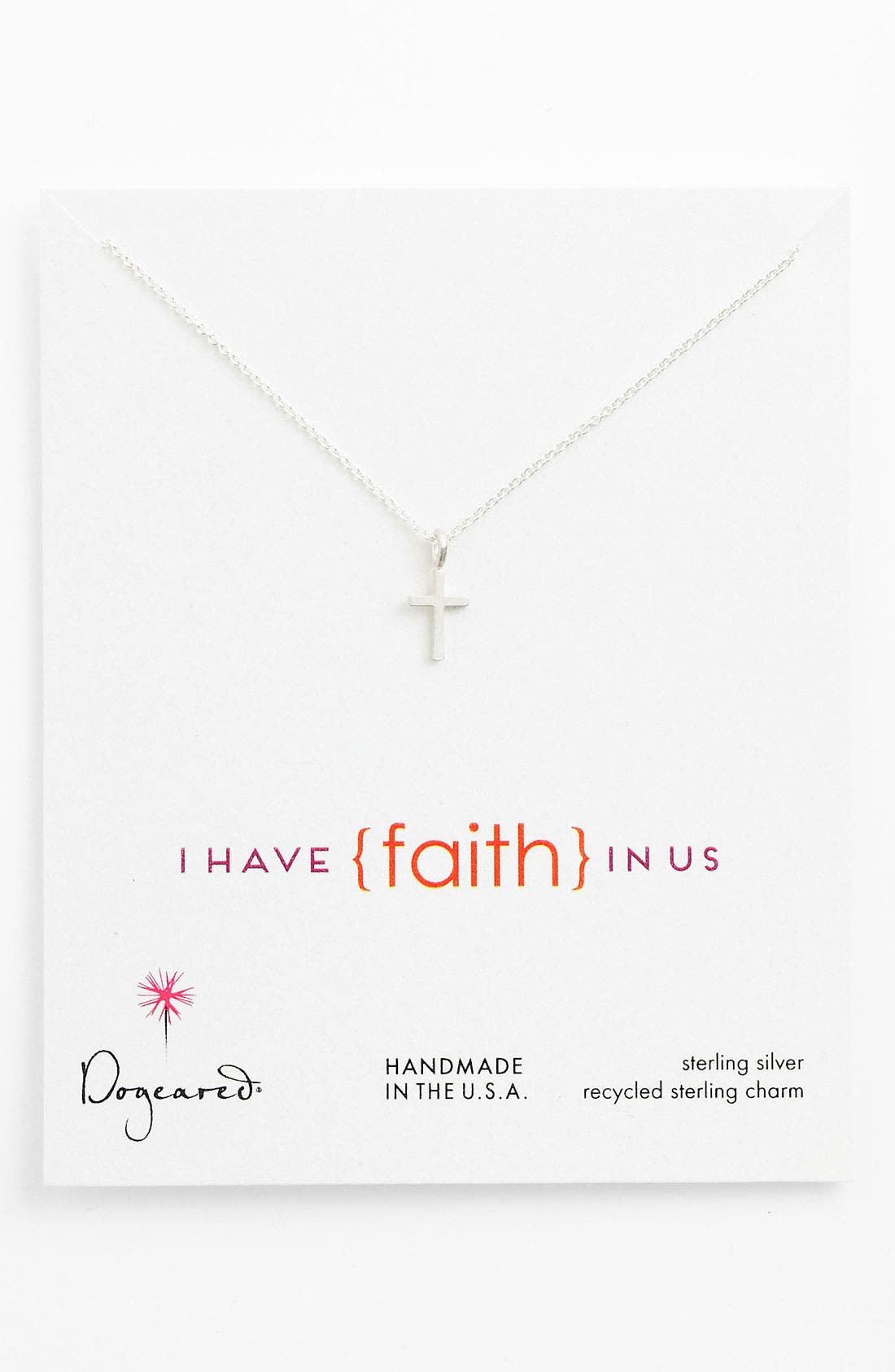 Alternate Image 1 Selected - Dogeared 'Love - Faith' Pendant Necklace