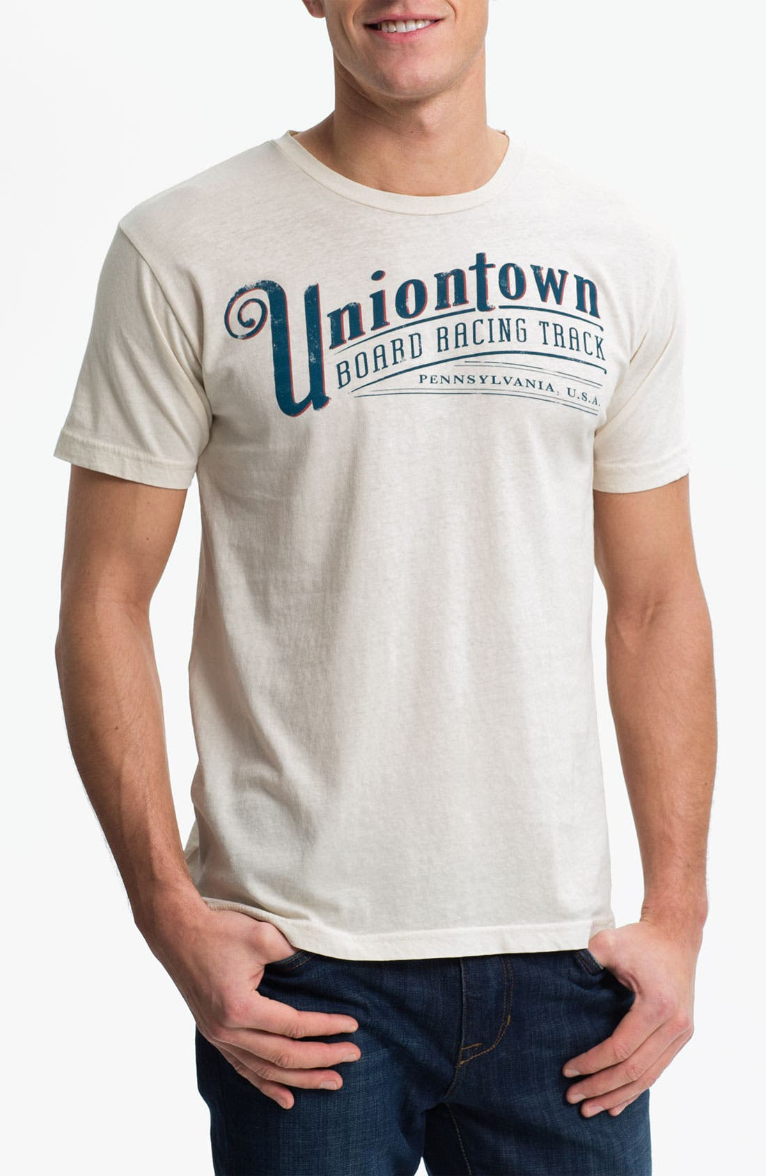 Main Image - Denim & Leathers by Andrew Marc 'Uniontown Board Race' Graphic T-Shirt