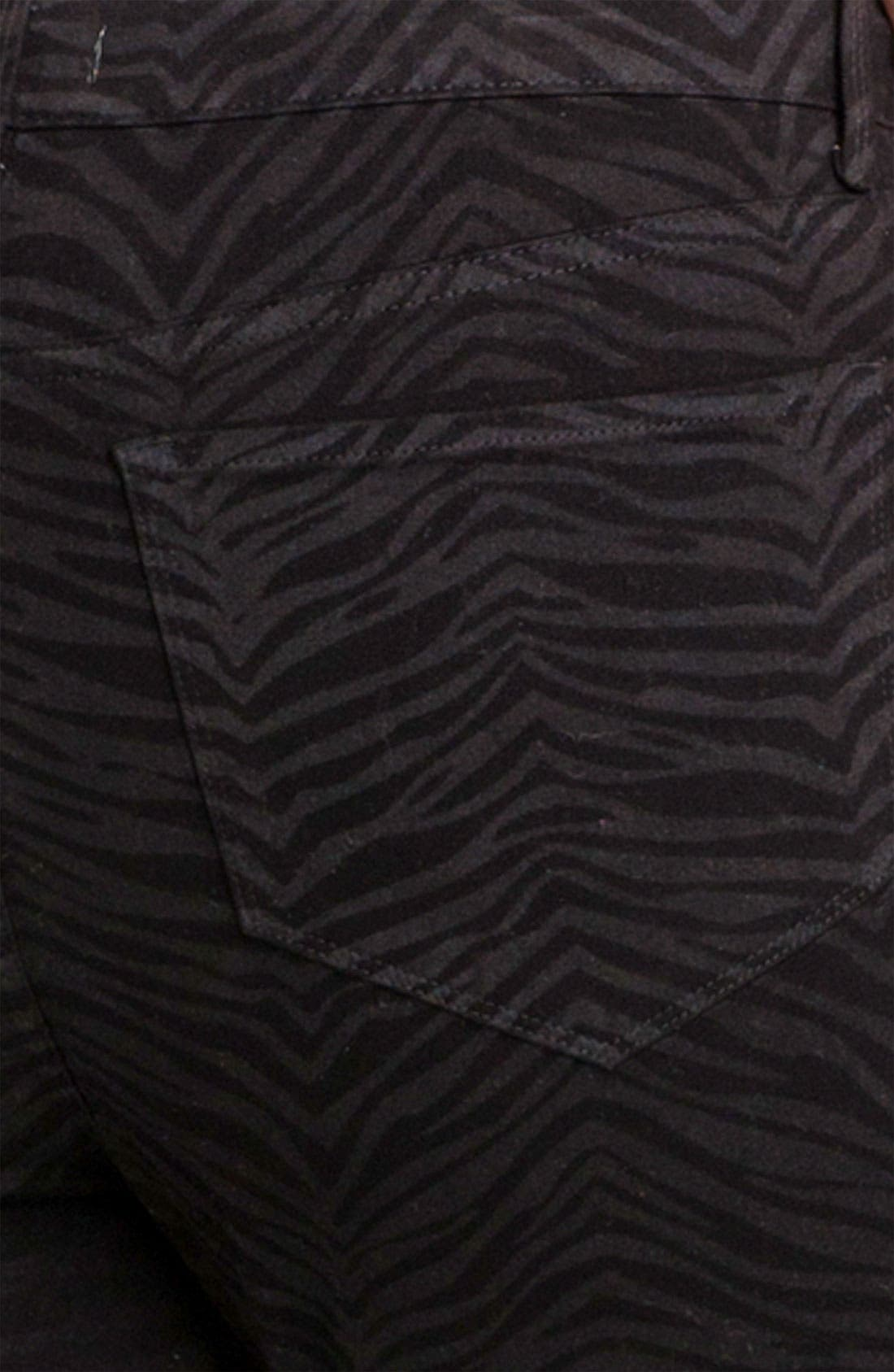 Alternate Image 3  - NYDJ 'Sheri - Zebra' Print Twill Slim Jeans (Plus)