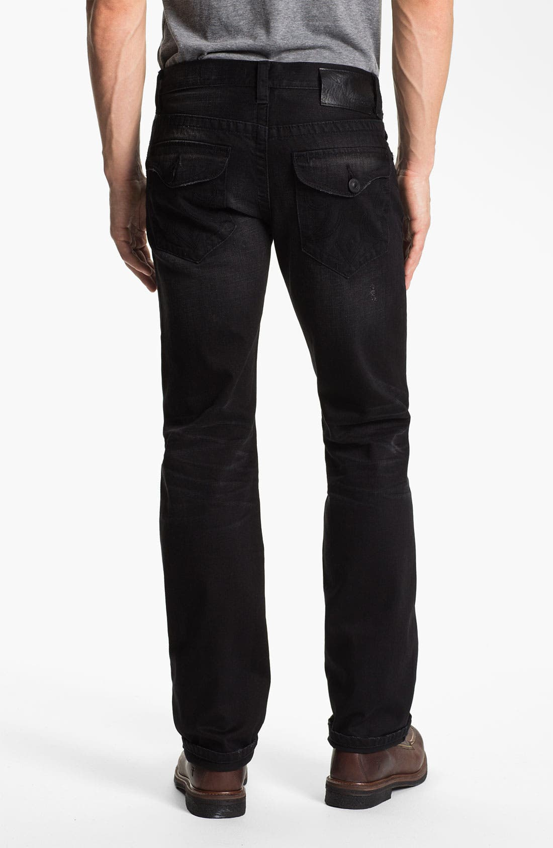 Alternate Image 1 Selected - MEK Denim 'Riley' Straight Leg Jeans (Miner Black)