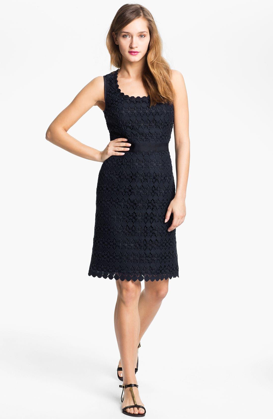Main Image - Tory Burch 'Ginevra' Lace Sheath Dress