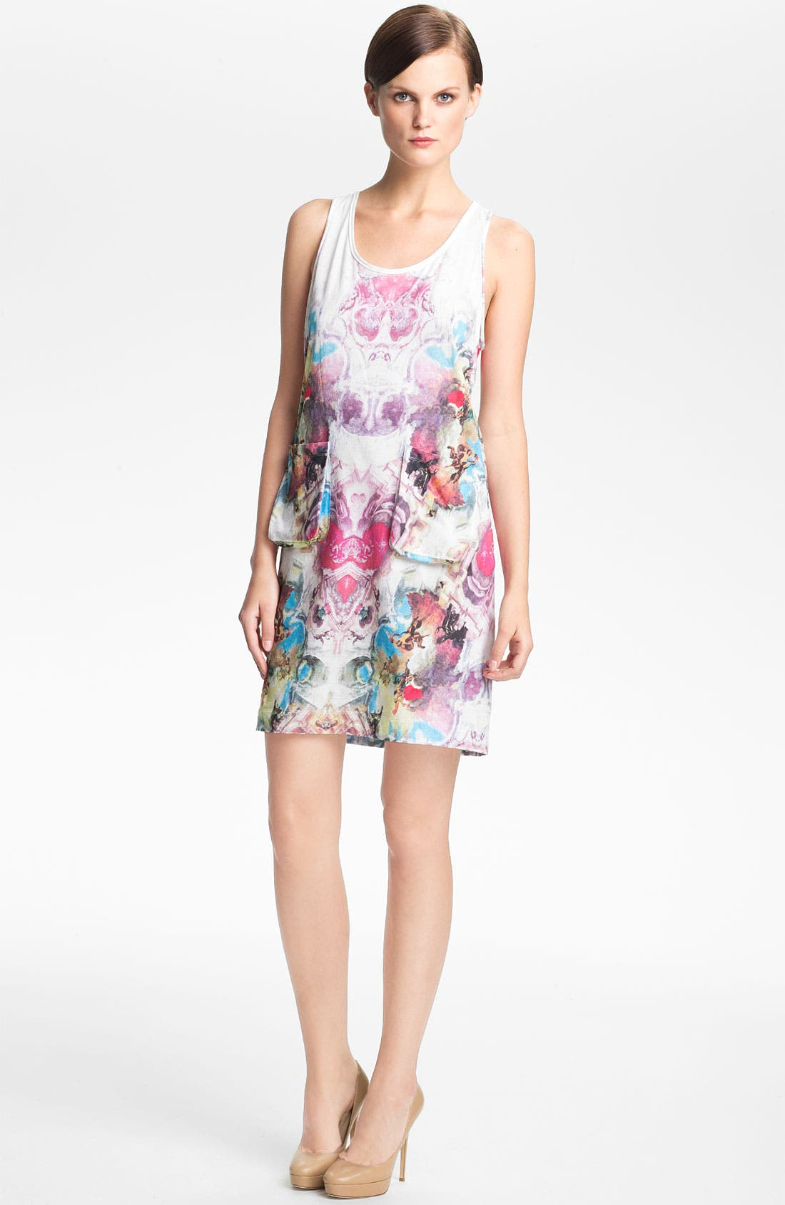 Alternate Image 1 Selected - Carven Print Jersey Tank Dress
