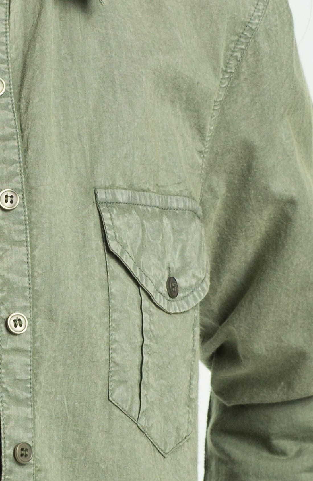 Alternate Image 3  - Fire Stud Collar Army Shirt (Juniors)