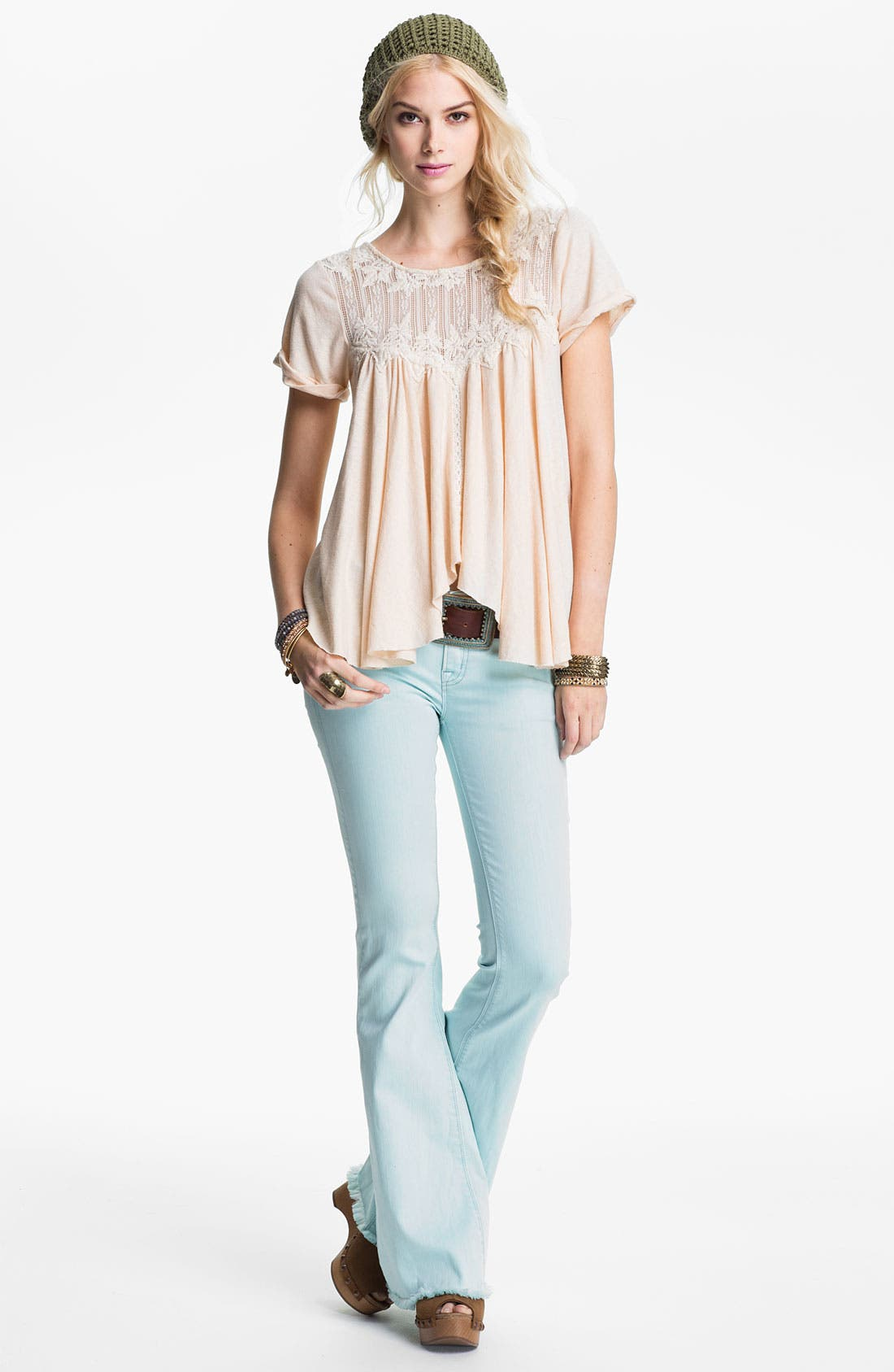 Alternate Image 1 Selected - Free People Top & Jeans