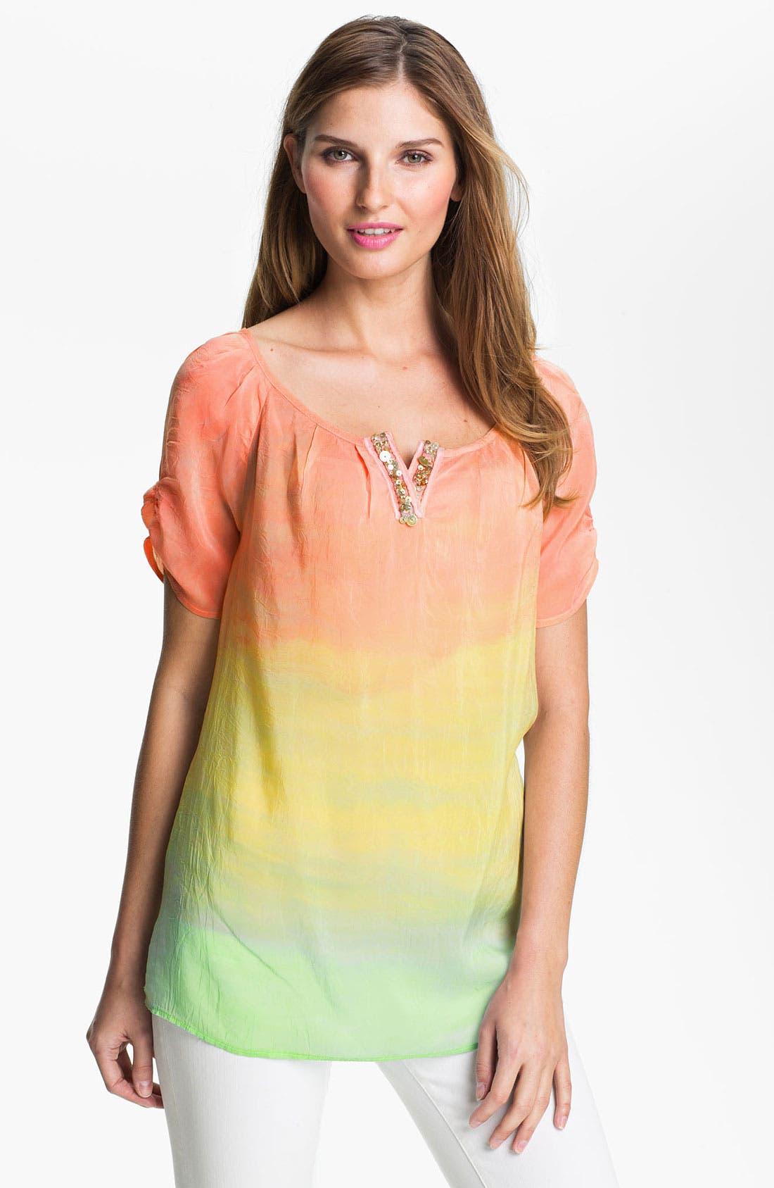 Main Image - Barbara Lesser Embellished Scoop Neck Blouse