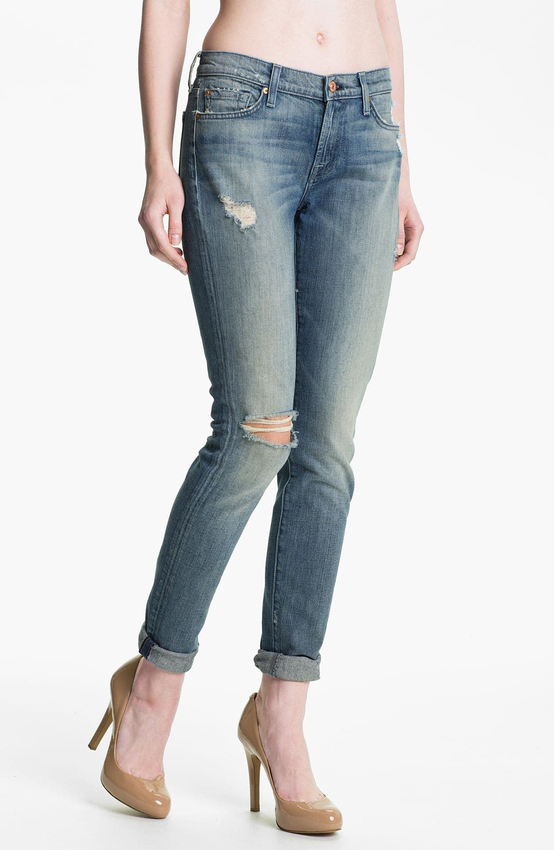 Main Image - 7 For All Mankind® Skinny Jeans (Authentic Oceanside)
