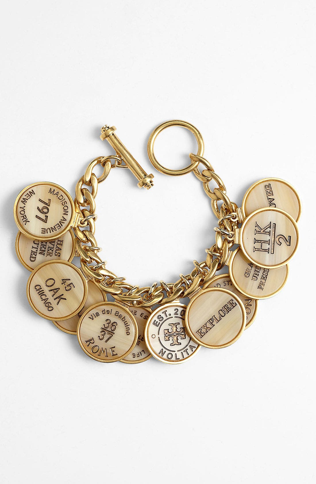 Alternate Image 1 Selected - Tory Burch 'Tory Landmark' Coin & Link Bracelet