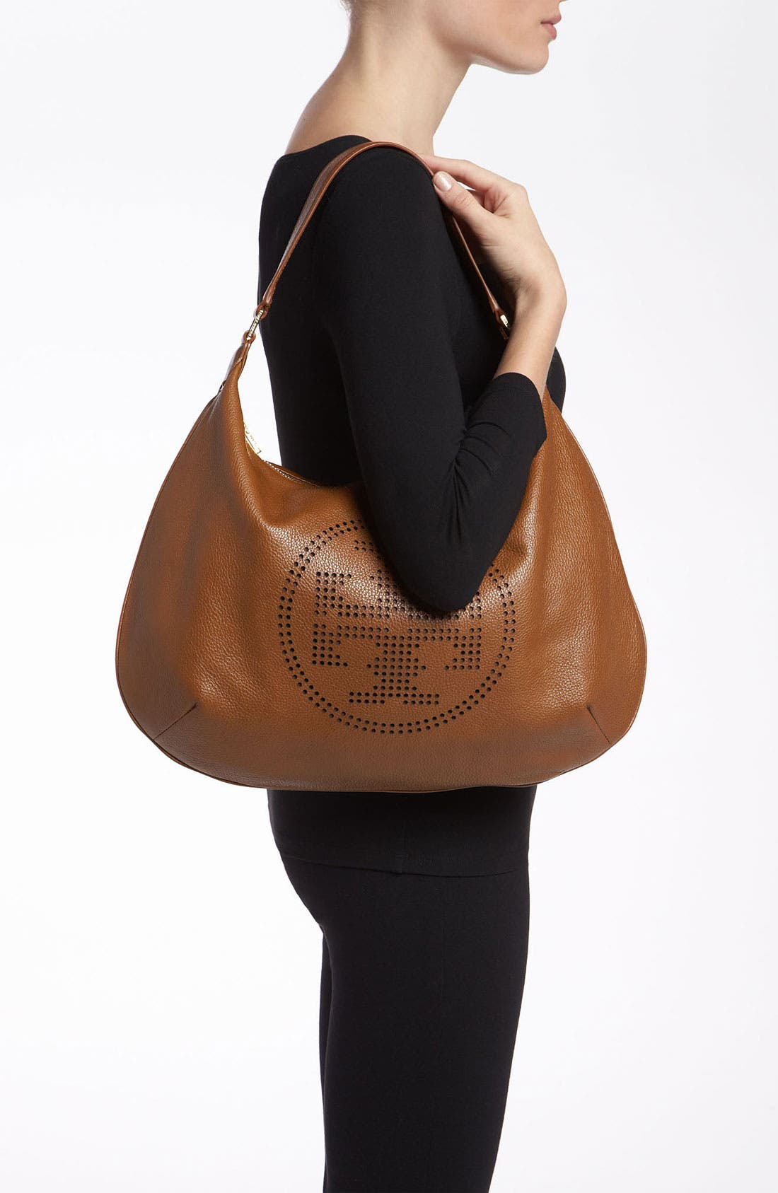 Alternate Image 2  - Tory Burch Perforated Logo Hobo