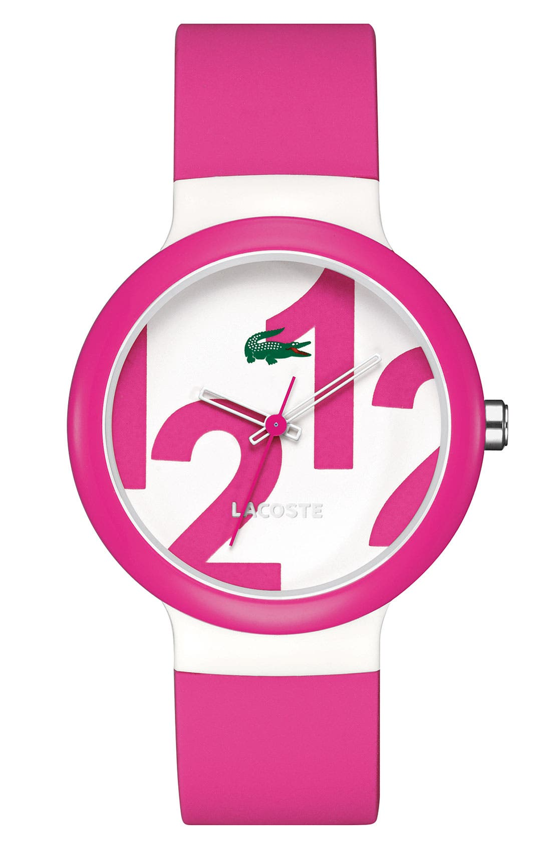 Alternate Image 1 Selected - Lacoste 'Goa' Scramble Dial Silicone Strap Watch