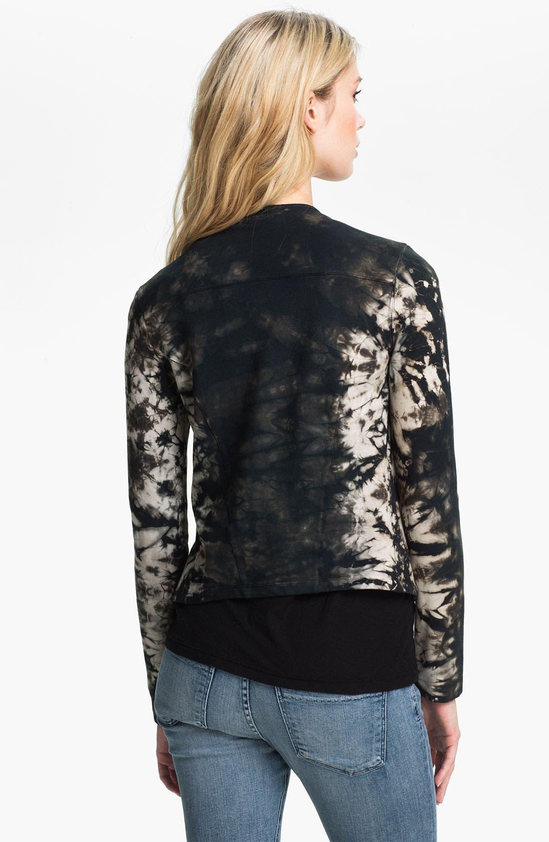 Alternate Image 2  - Ella Moss 'Frankie' Tie Dyed Moto Jacket