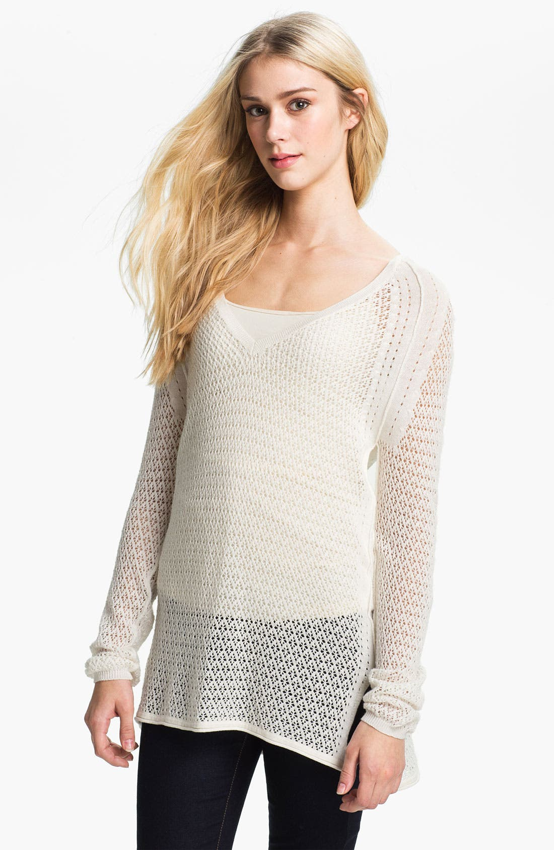 Alternate Image 1 Selected - Ella Moss 'Julia' Pointelle Tunic Sweater