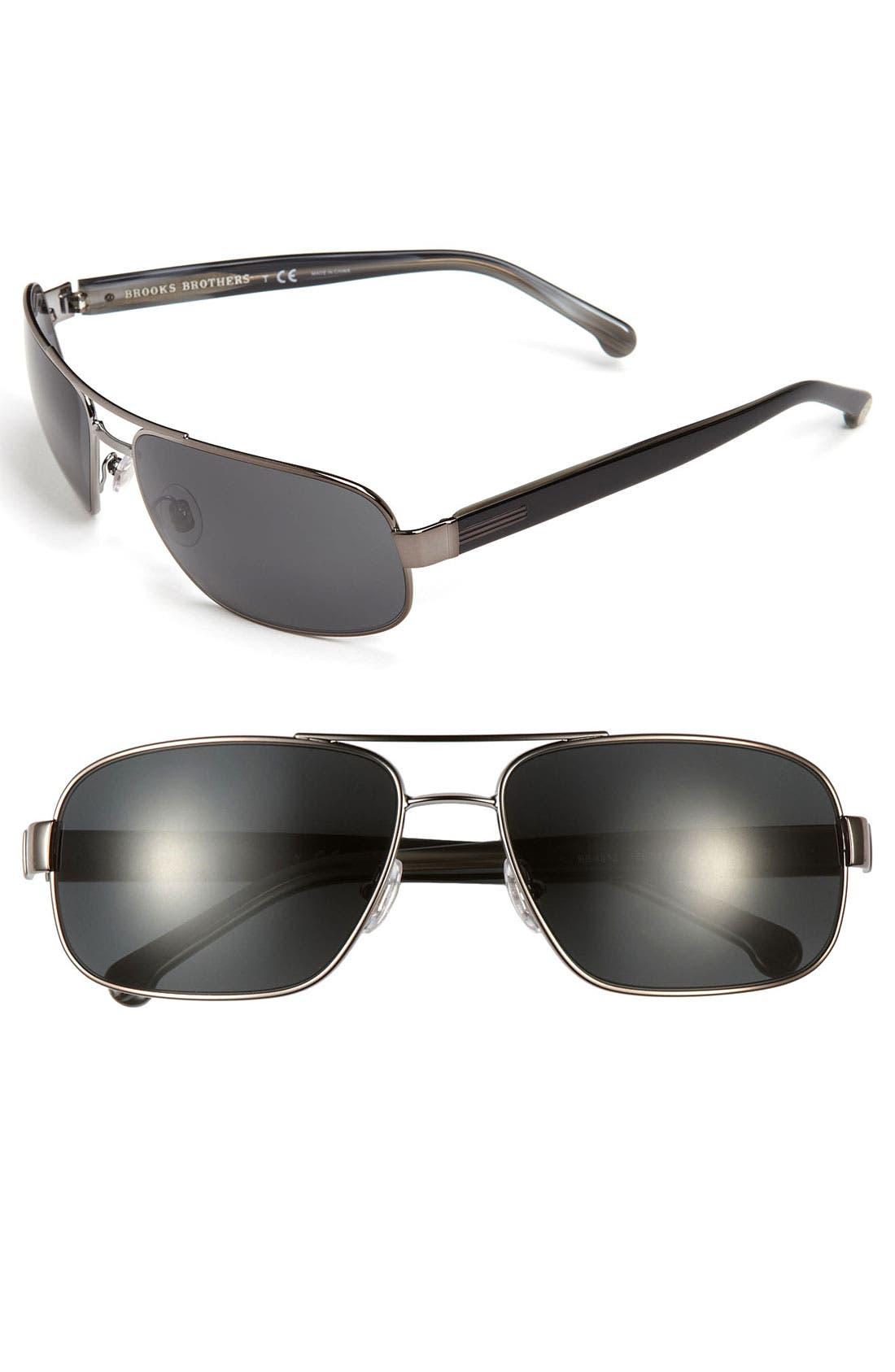 Main Image - Brooks Brothers 60mm Navigator Sunglasses