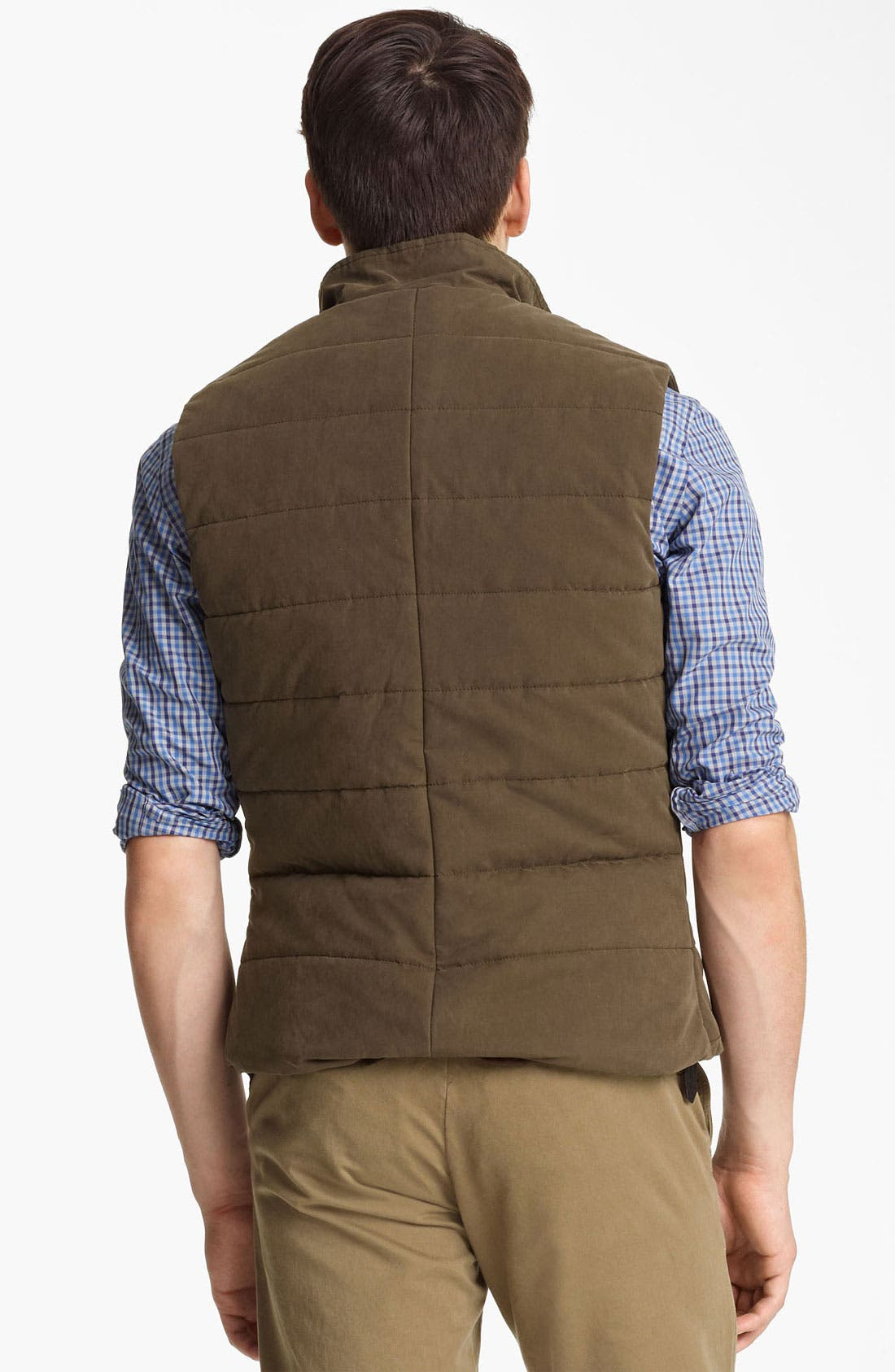 Alternate Image 2  - Billy Reid Quilted Puffer Vest with Shearling Lining