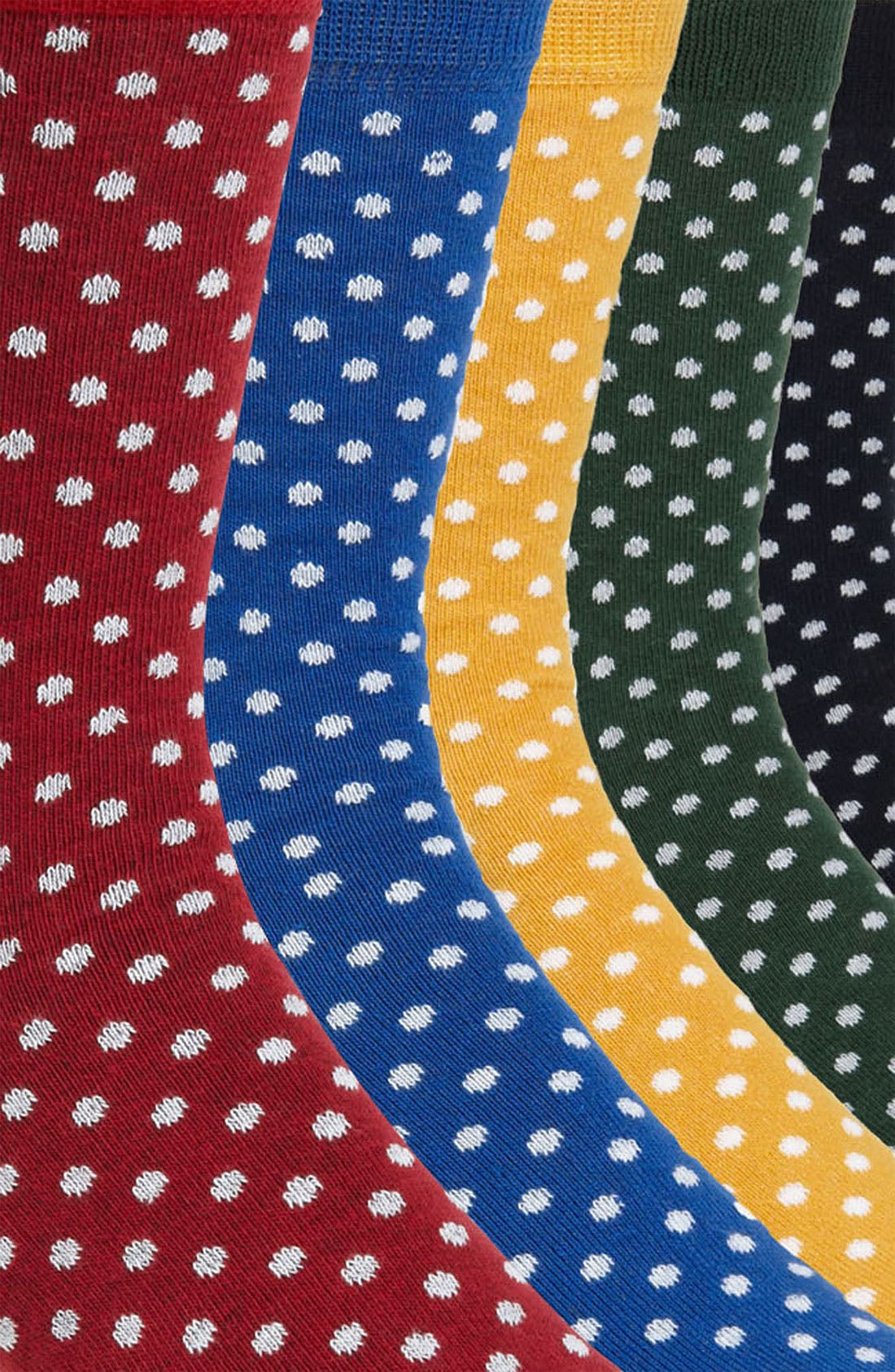 Alternate Image 2  - Topman Polka Dot Socks (5-Pack)