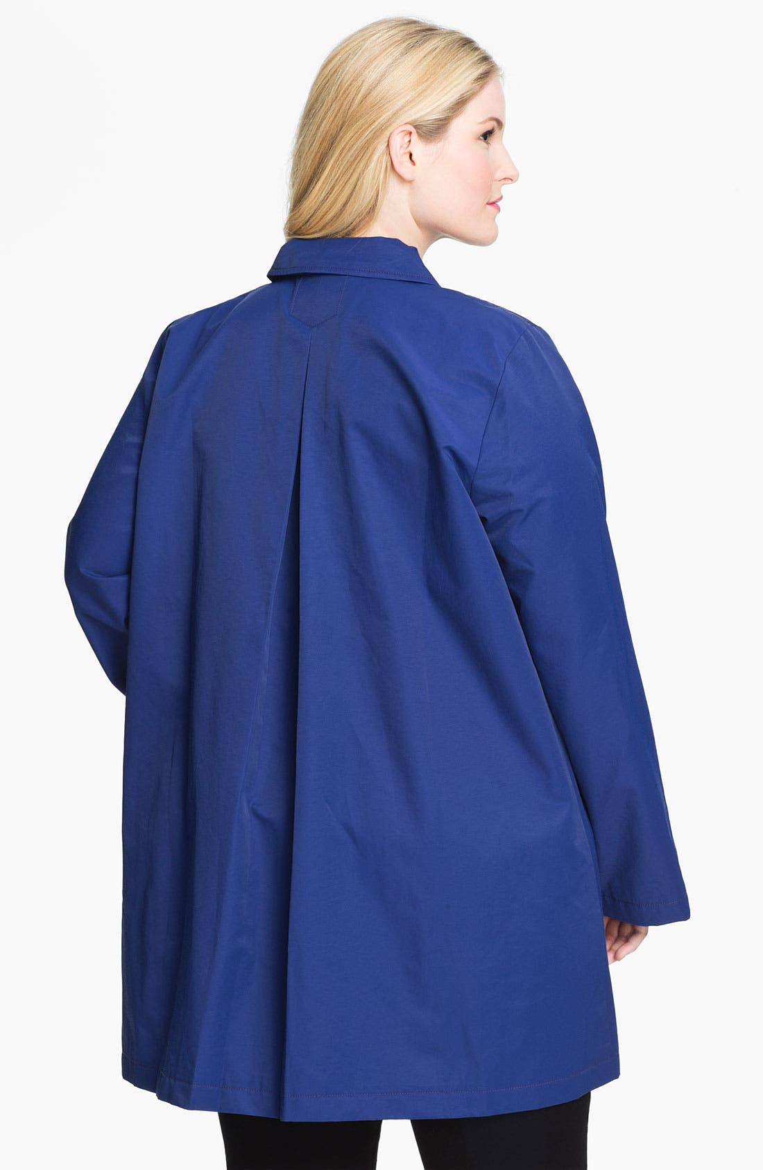 Alternate Image 2  - Eileen Fisher Classic Collar A-Line Coat (Plus)