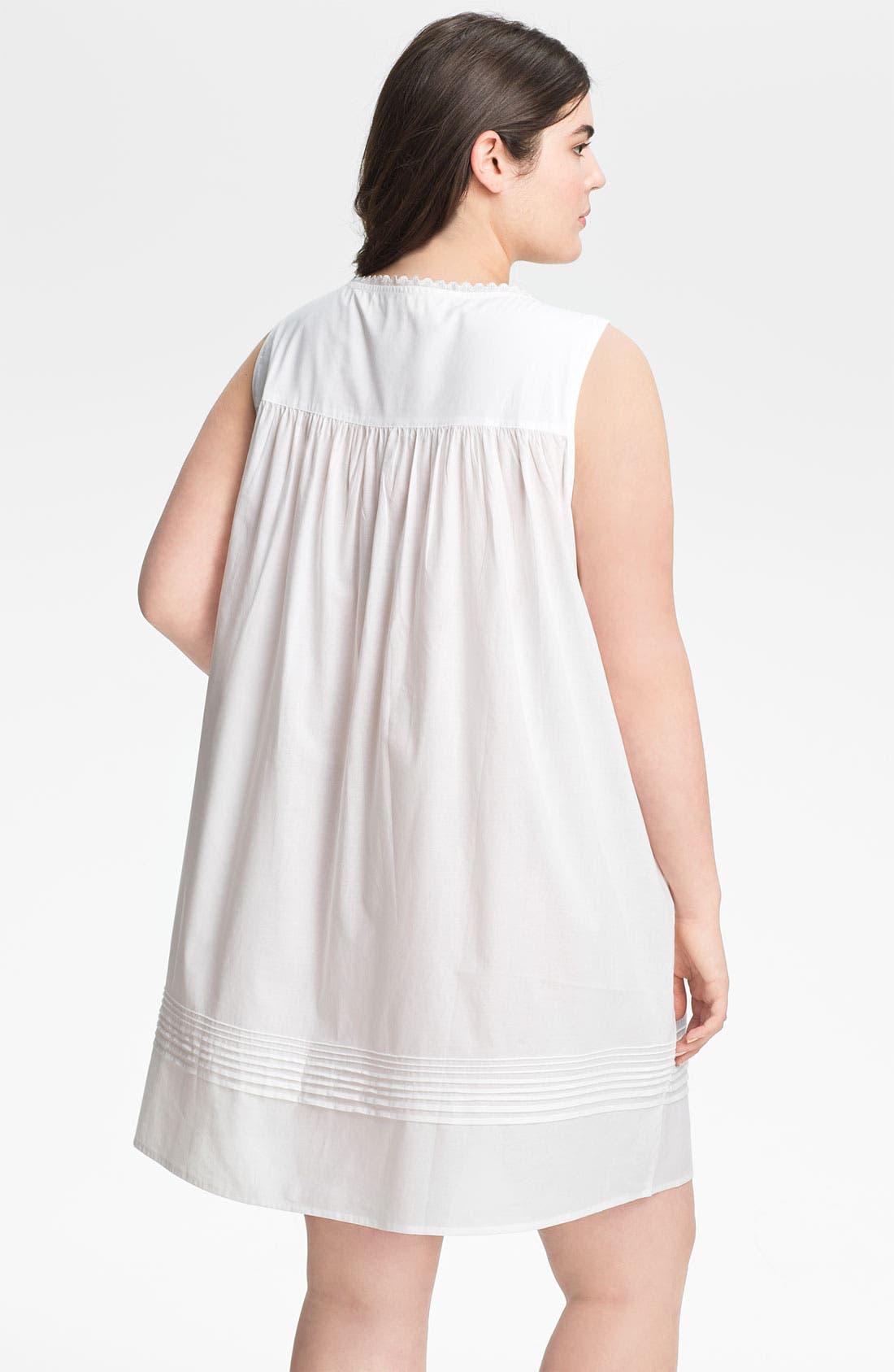 Alternate Image 2  - Eileen West 'Sweet Promise' Short Nightgown (Plus)