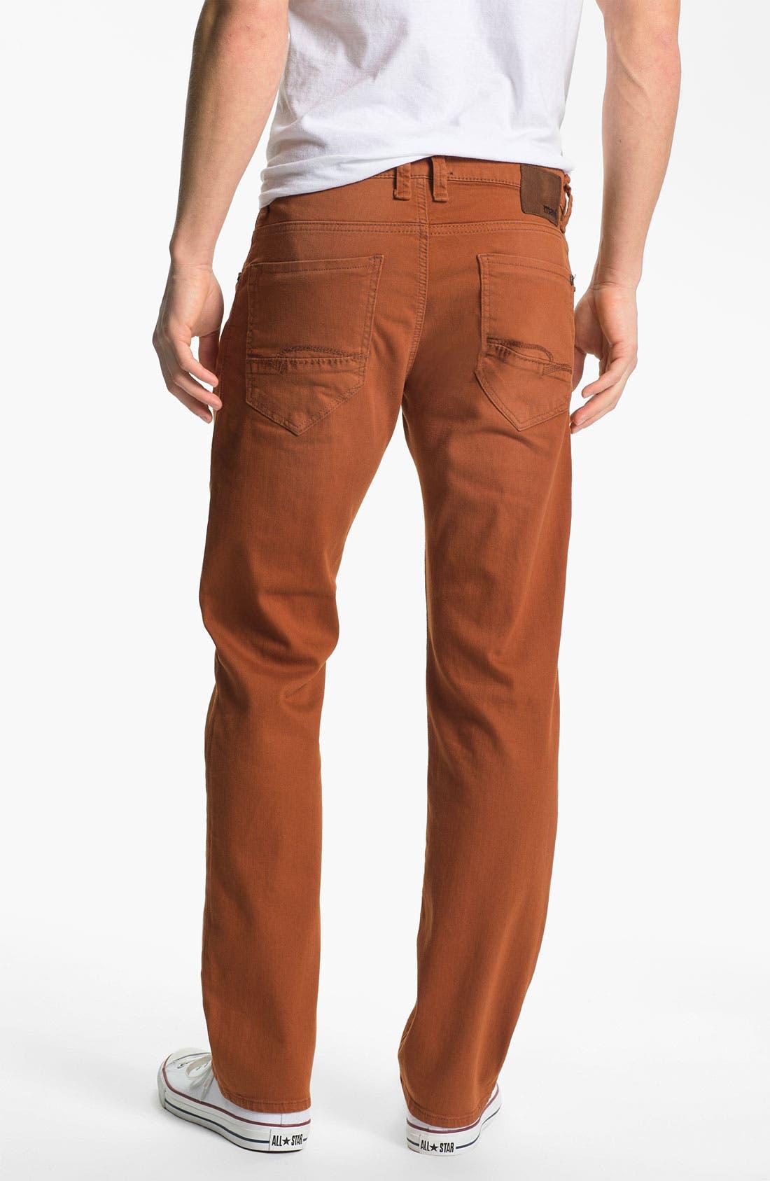 Alternate Image 1 Selected - Mavi Jeans 'Zach' Straight Leg Jeans (Orange)
