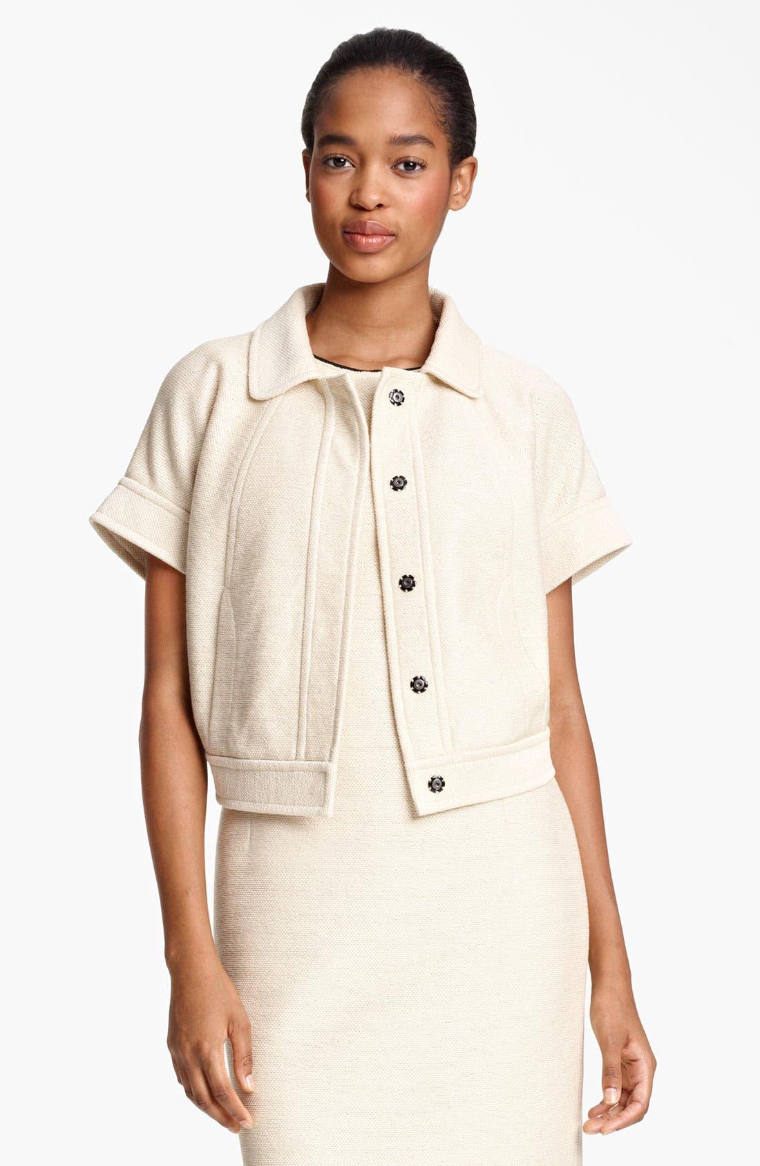 Alternate Image 2  - Lida Baday Jacquard Knit Crop Jacket