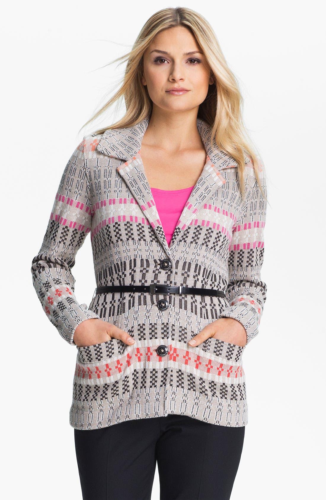 Alternate Image 1 Selected - Nic + Zoe Belted Knit Jacket (Petite)