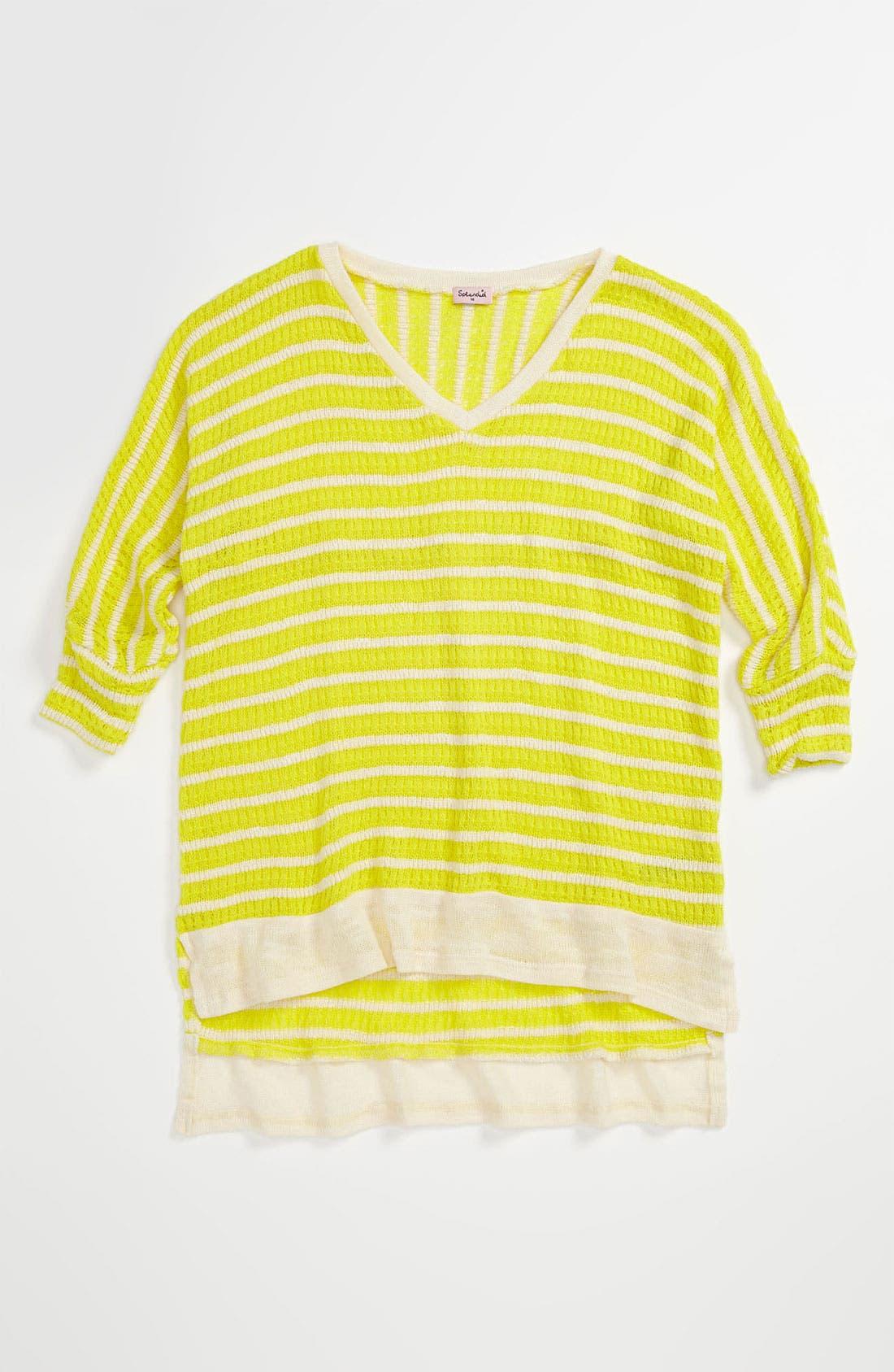 Main Image - Splendid 'Panama' Stripe Top (Big Girls)