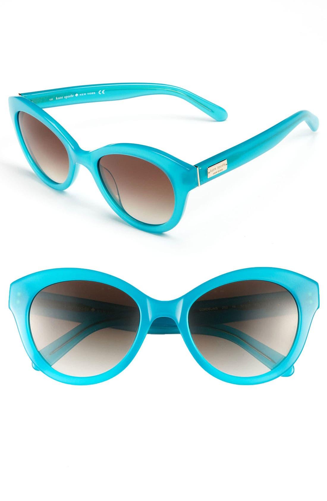 Main Image - kate spade new york 'cordelia' 52mm retro sunglasses