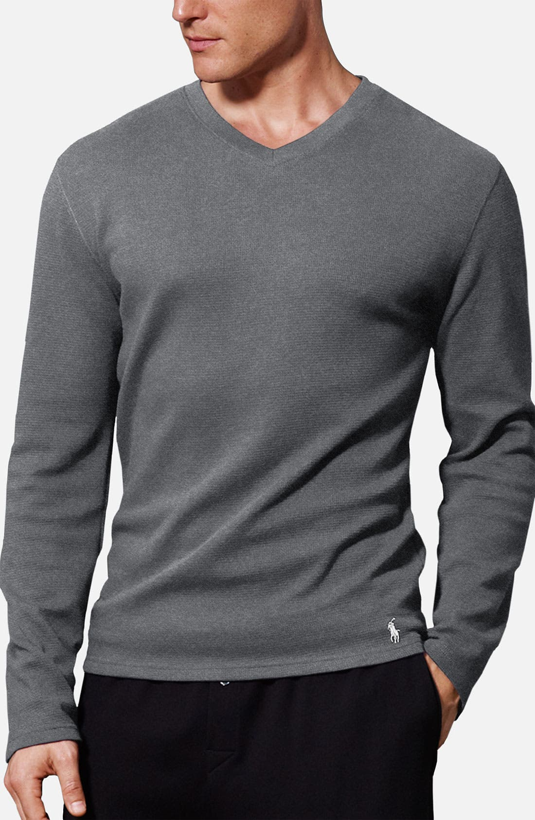 Alternate Image 1 Selected - Polo Ralph Lauren Long Sleeve Thermal T-Shirt