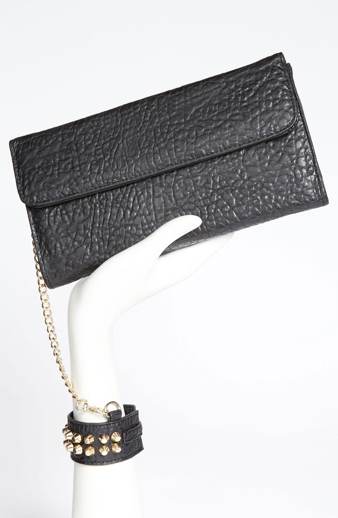 Alternate Image 2  - Street Level Studded Cuff Clutch