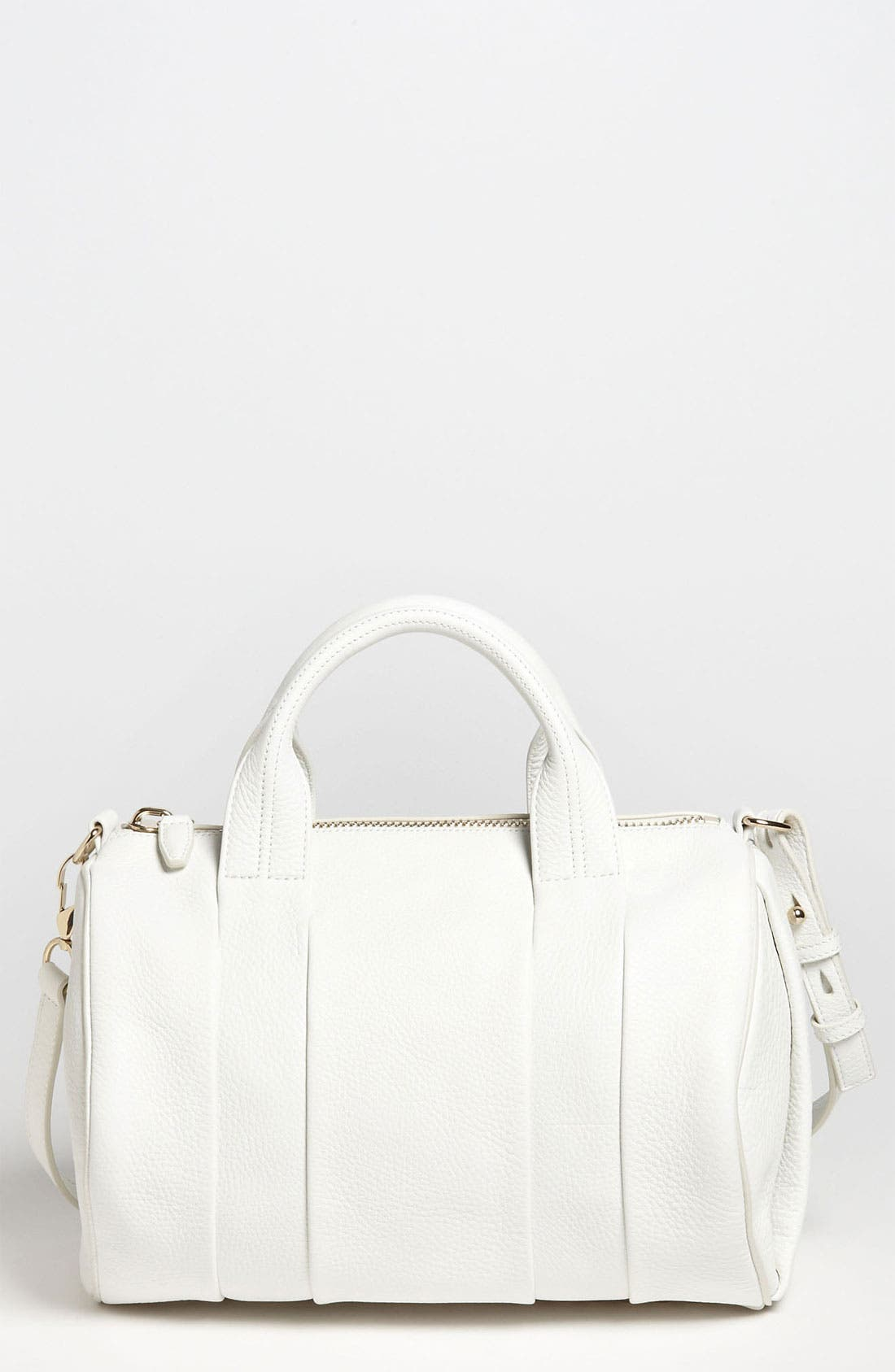 Alternate Image 1 Selected - Alexander Wang 'Rocco - Pale Gold' Leather Satchel
