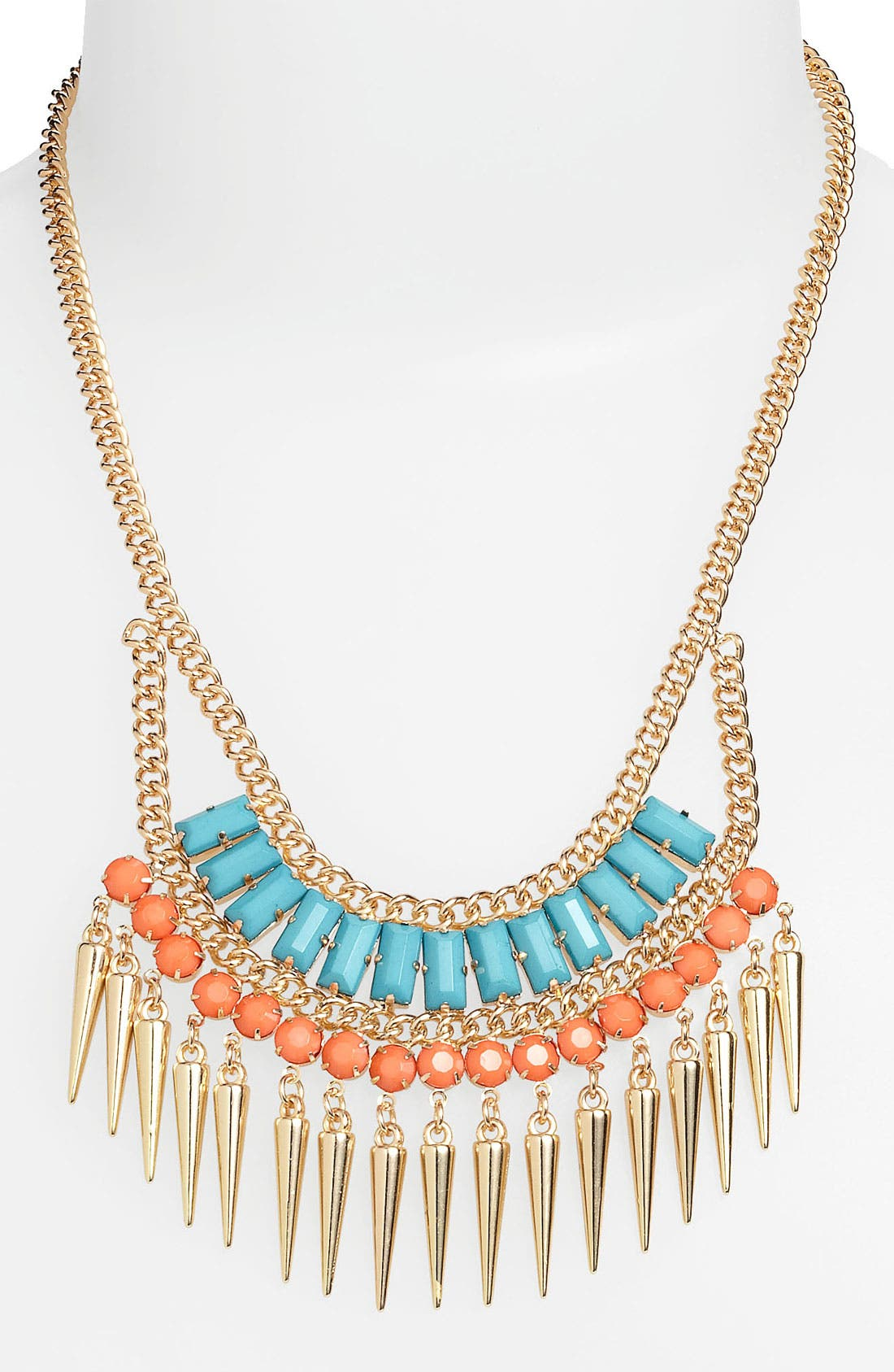 Main Image - Stephan & Co. Exotic Spike Statement Necklace