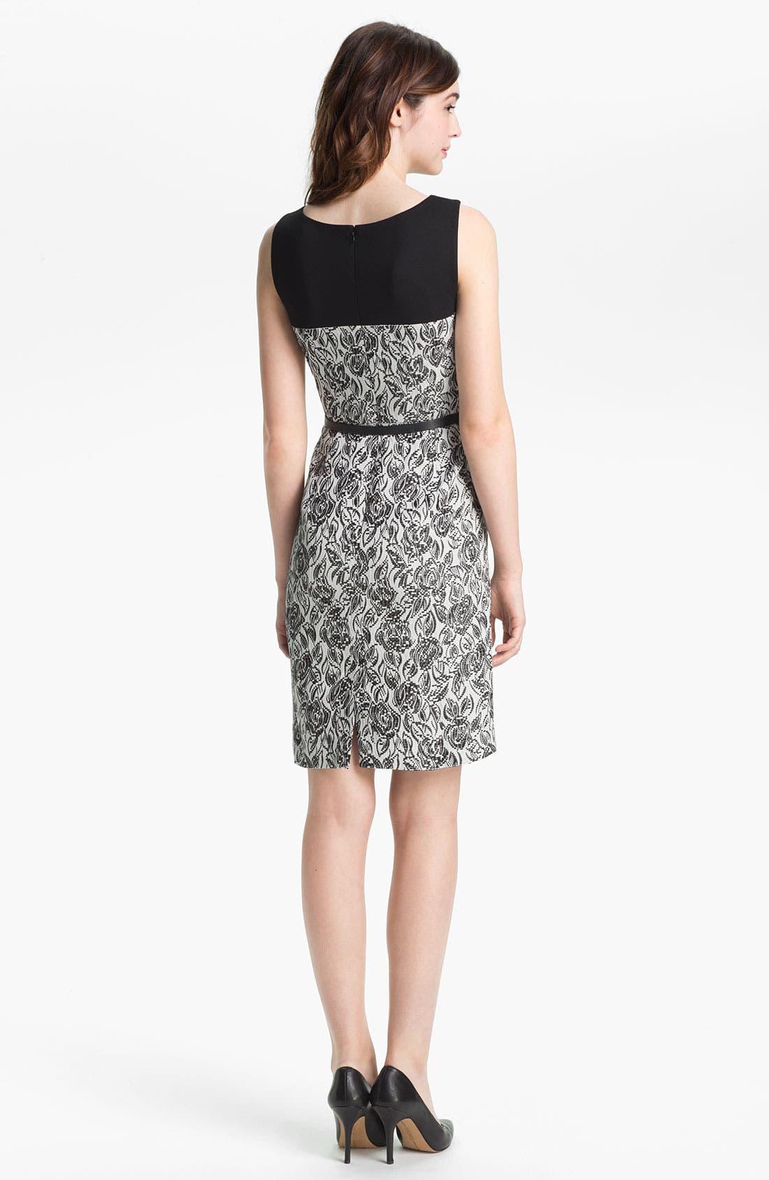 Alternate Image 2  - Classiques Entier® 'Laurel' Jacquard Dress