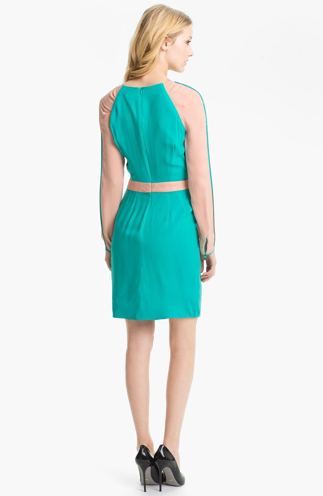 Alternate Image 2  - Rebecca Minkoff 'Sacramento' Colorblock Silk Dress
