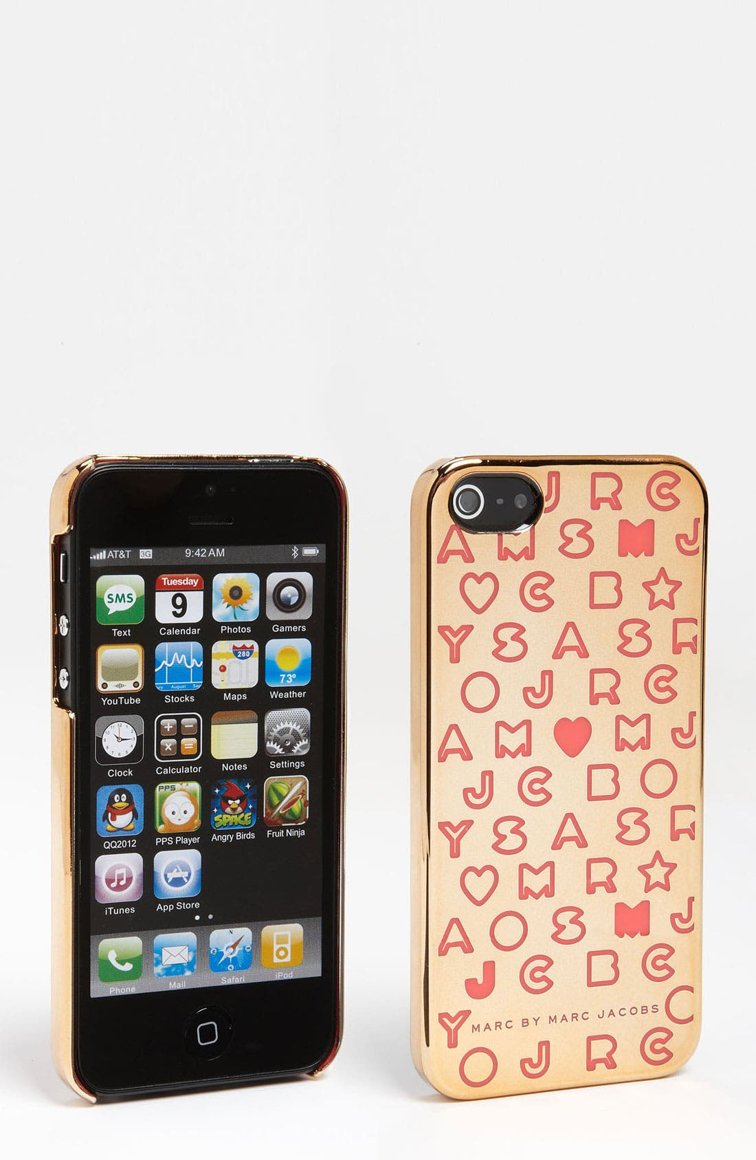 Alternate Image 1 Selected - MARC BY MARC JACOBS 'Metallic Stardust' iPhone 5 & 5S Case
