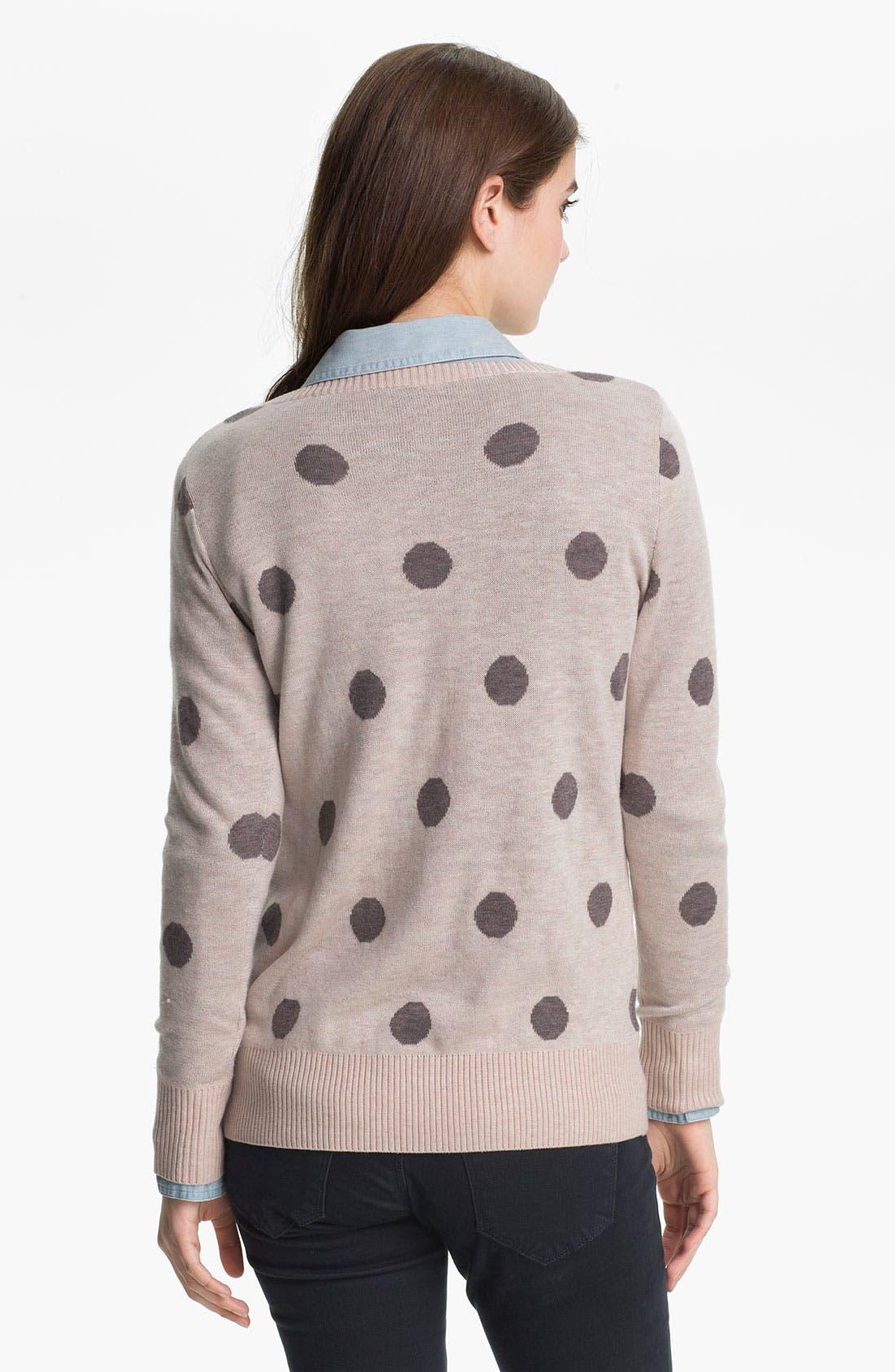 Alternate Image 2  - Max & Mia 'Big Dot' Sweater