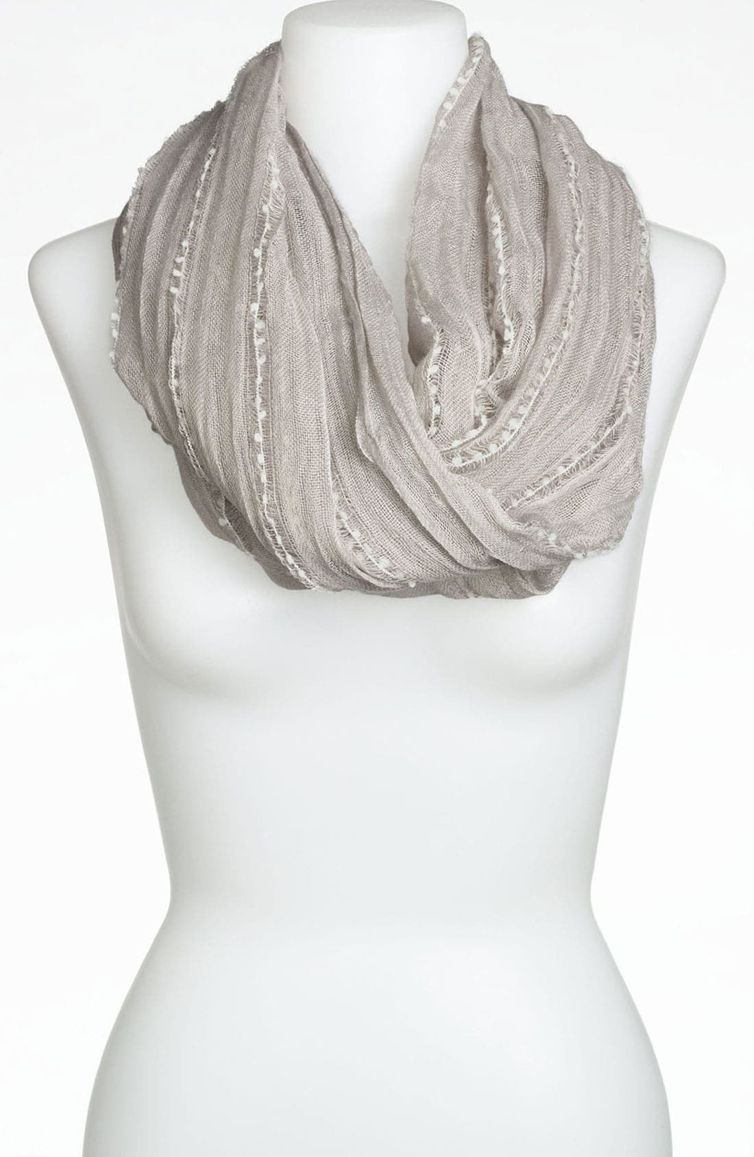 Alternate Image 1 Selected - BP. Pompom Stripe Infinity Scarf