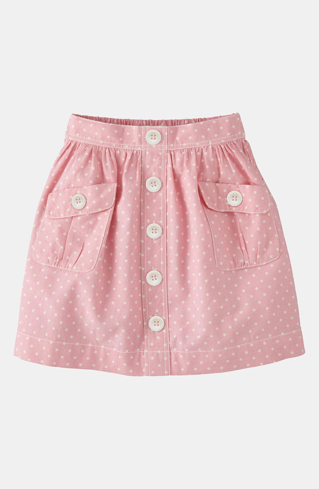 Alternate Image 1 Selected - Mini Boden 'Spotty' Chambray Skirt (Little Girls & Big Girls)