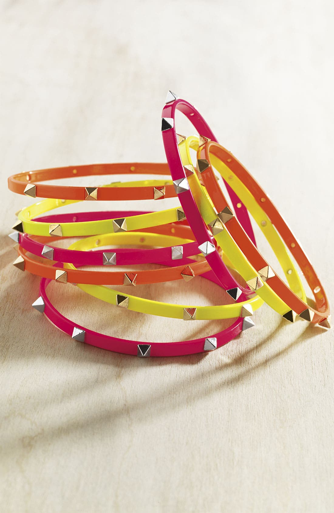 Alternate Image 4  - Cara Studded Bangles (Set of 3)
