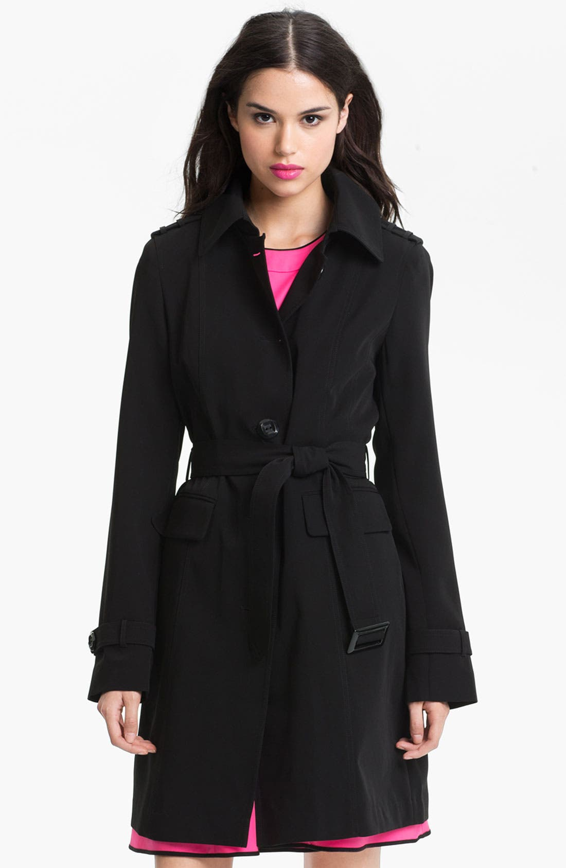 Main Image - Gallery Club Collar Trench Coat