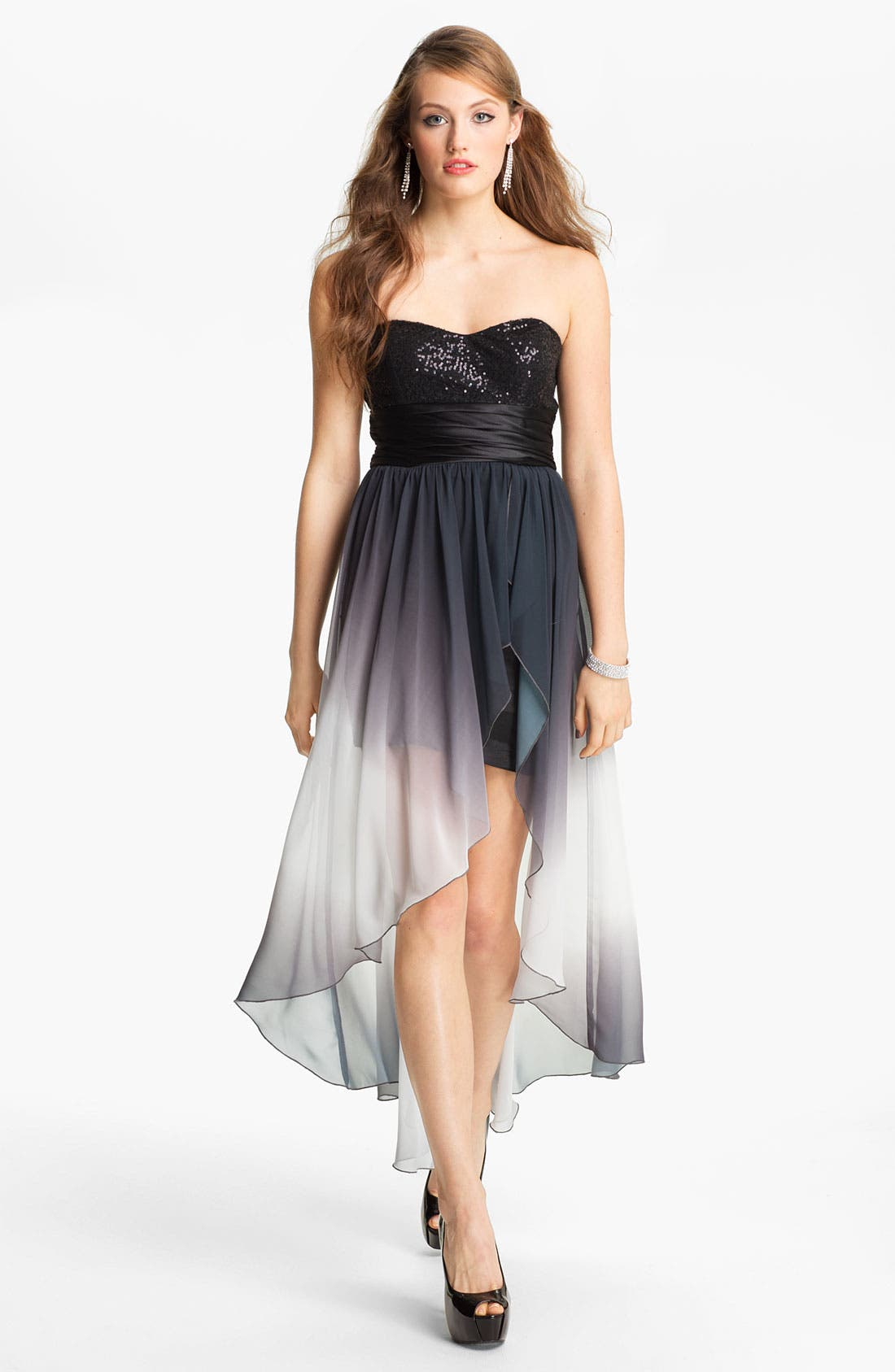 Main Image - Speechless Embellished High/Low Dress (Juniors)