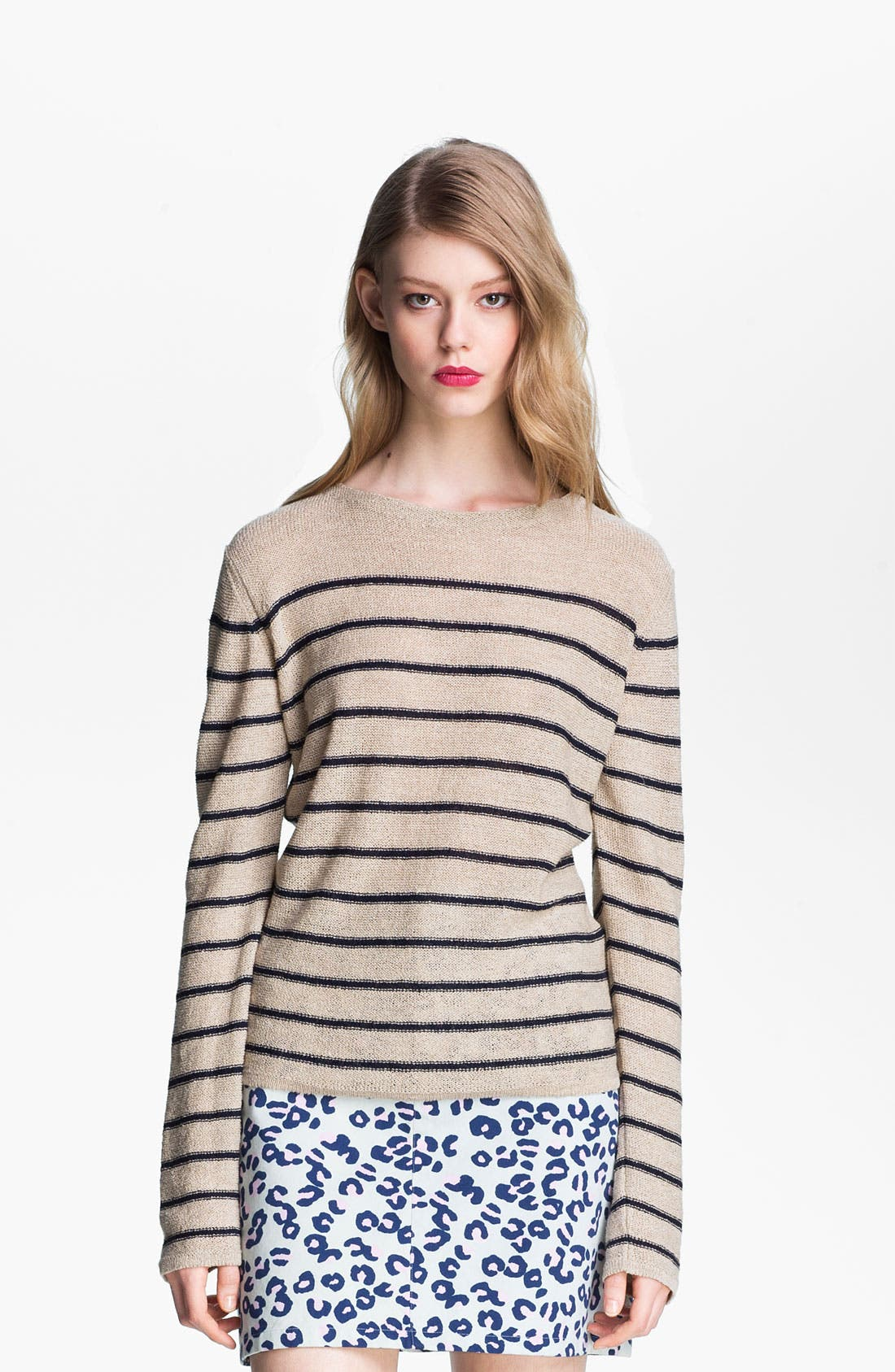Alternate Image 2  - A.P.C. Stripe Textured Sweater