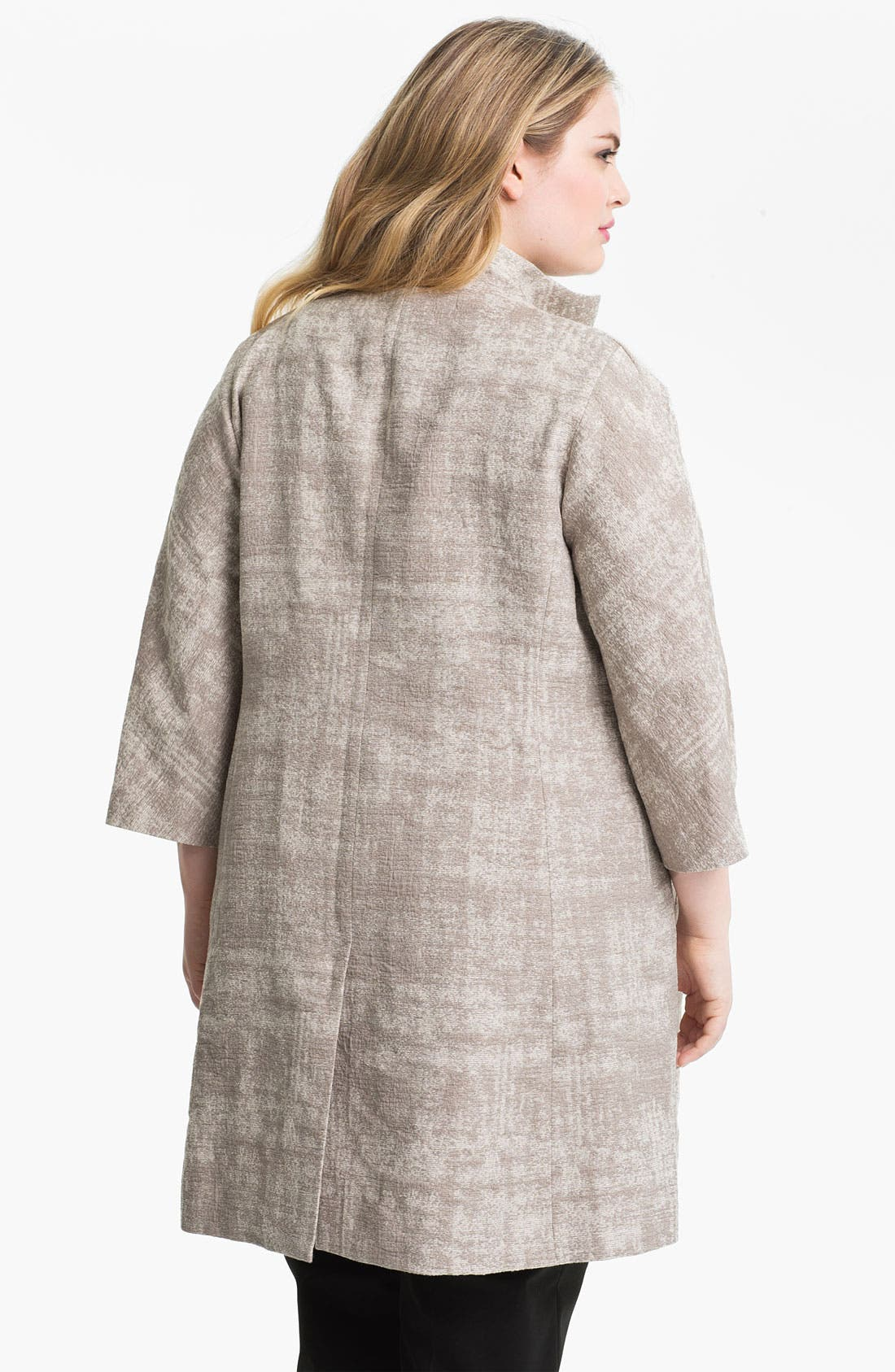 Alternate Image 2  - Eileen Fisher Funnel Neck A-Line Coat (Plus)