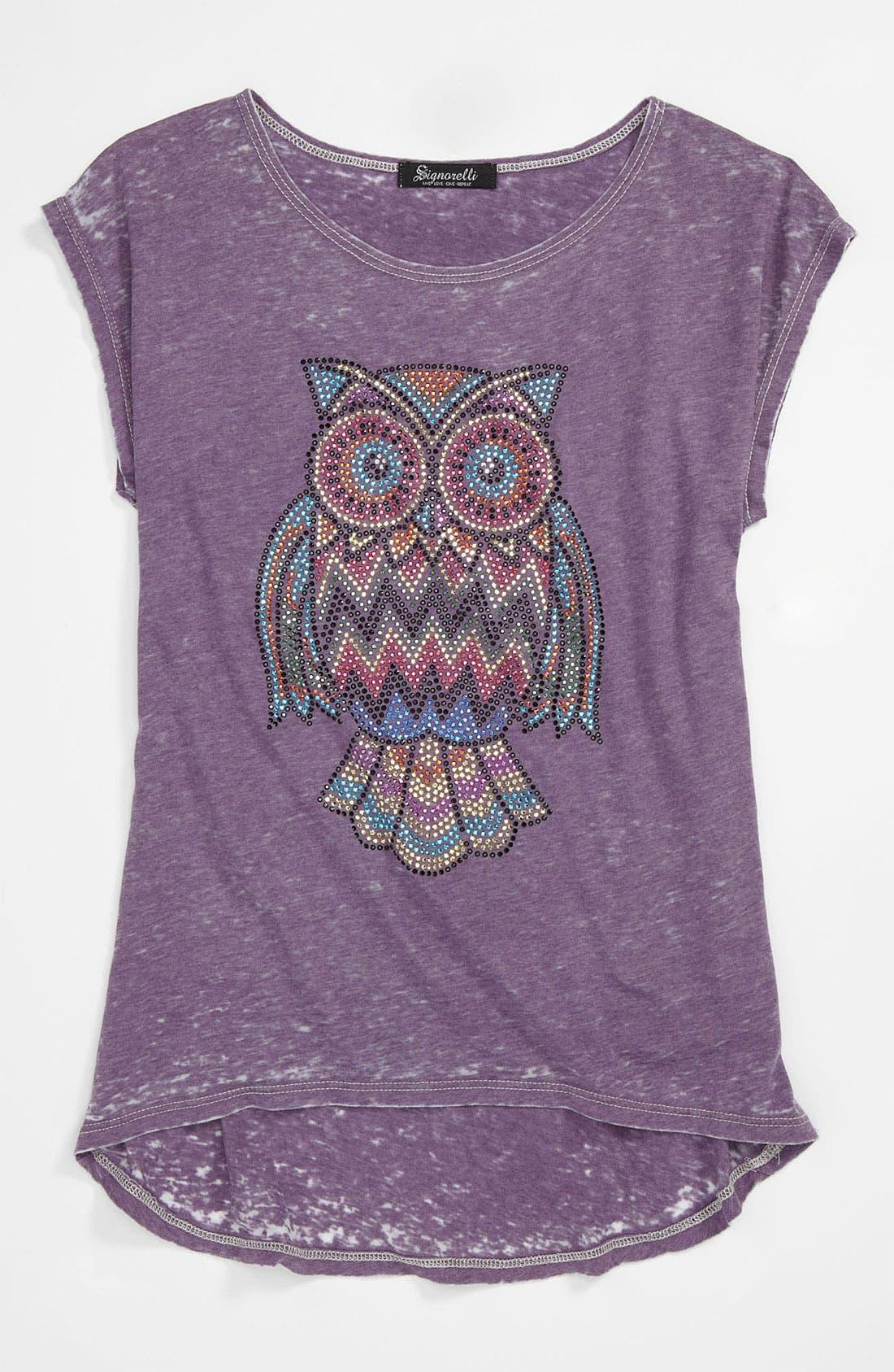 Alternate Image 1 Selected - Signorelli 'Owl' Tee (Big Girls)