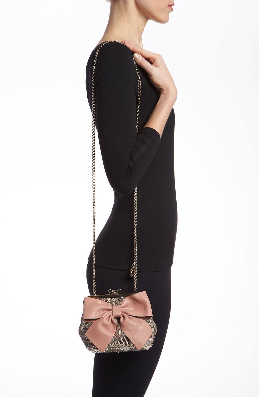 Alternate Image 2  - RED Valentino 'Sequin Bow - Small' Frame Shoulder Bag