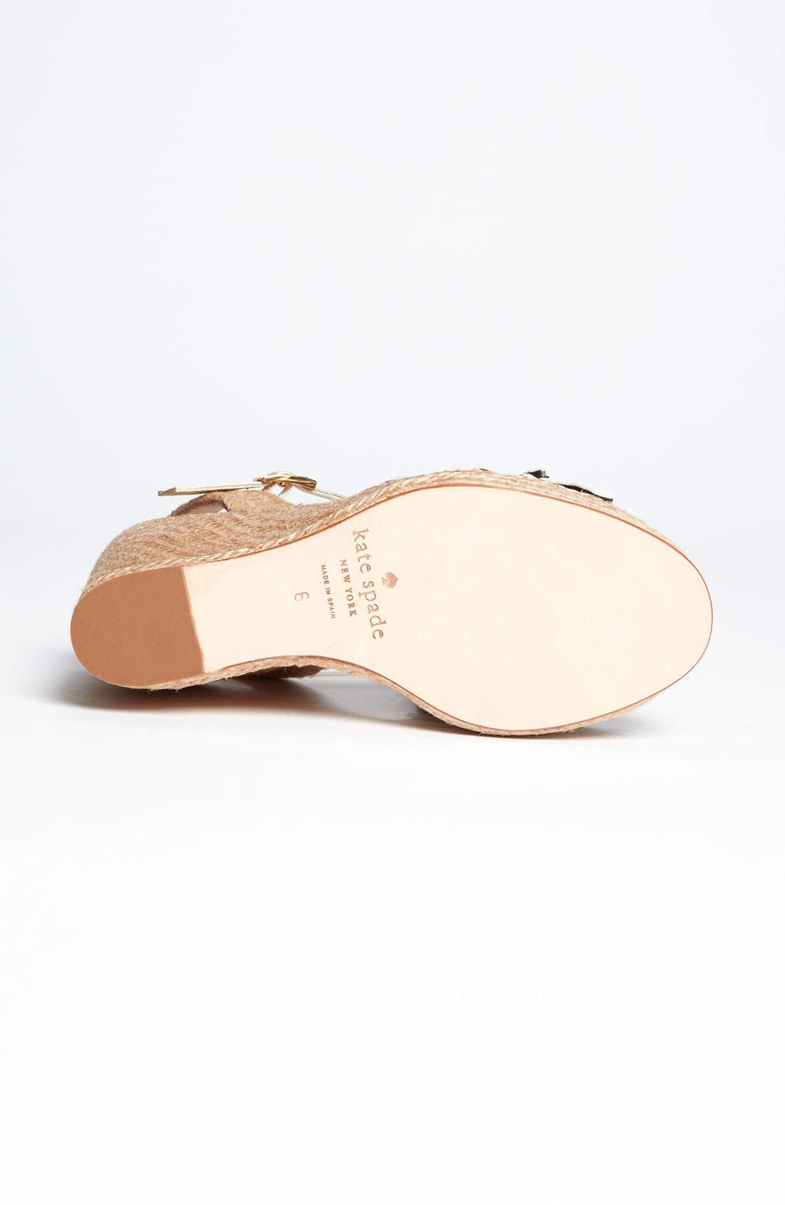 Alternate Image 4  - kate spade new york 'carmelita' wedge sandal