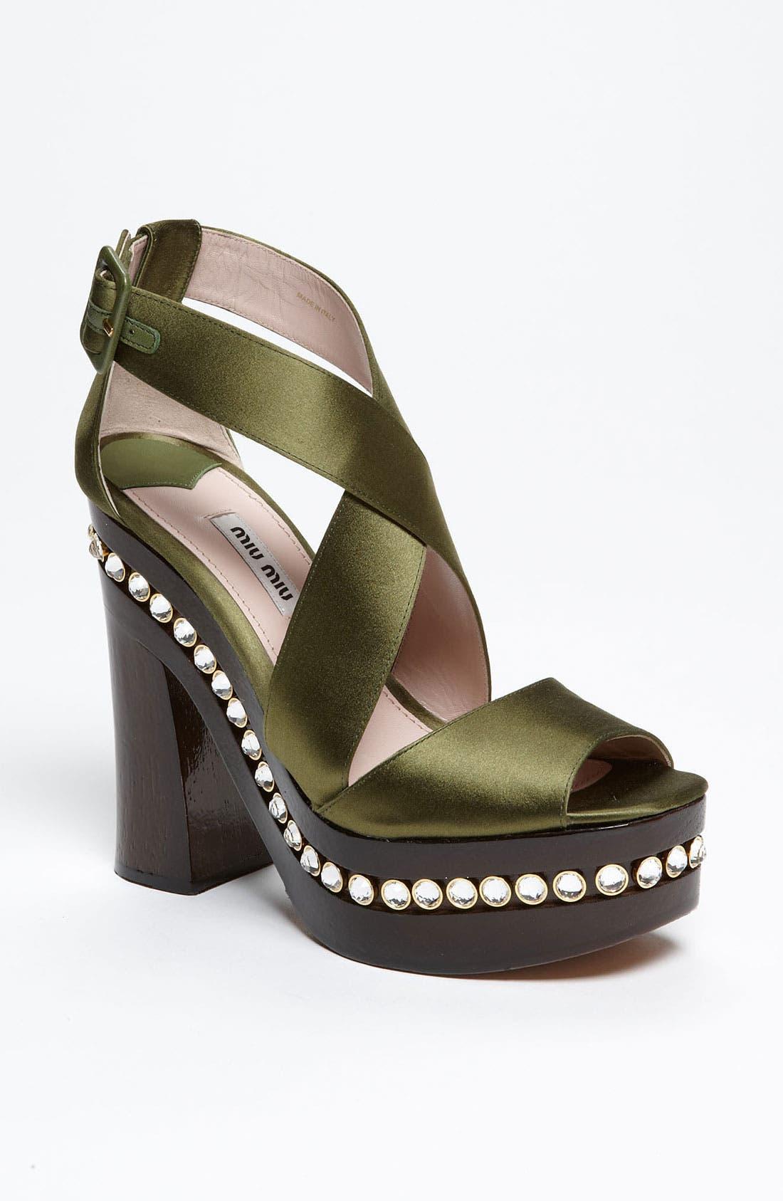 Main Image - Miu Miu Crystal Clog Sandal