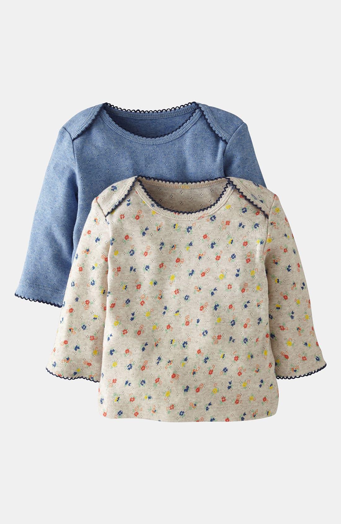 Alternate Image 1 Selected - Mini Boden Pointelle Shirt (2-Pack) (Baby)