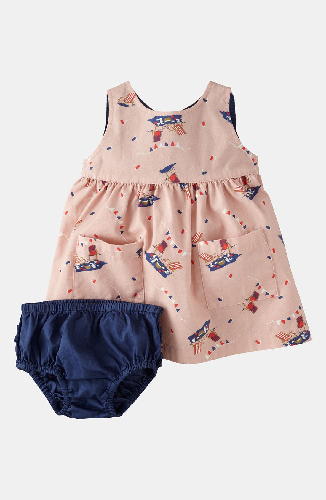 Main Image - Mini Boden Wrap Dress (Baby)